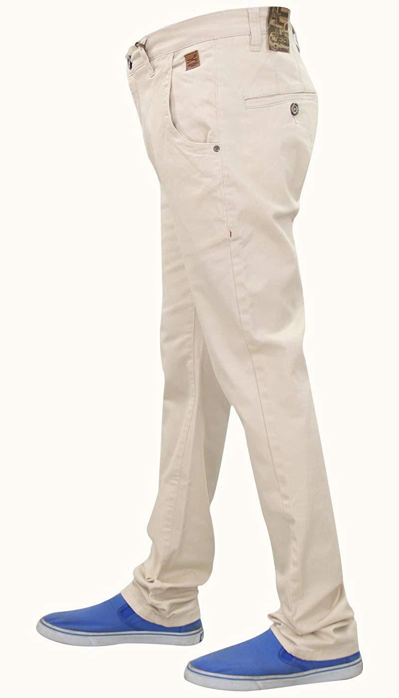 Men-Chinos-Regular-Fit-Jeans-Cotton-Stretch-Casual-Pants-Trousers-All-Waist-Size thumbnail 12