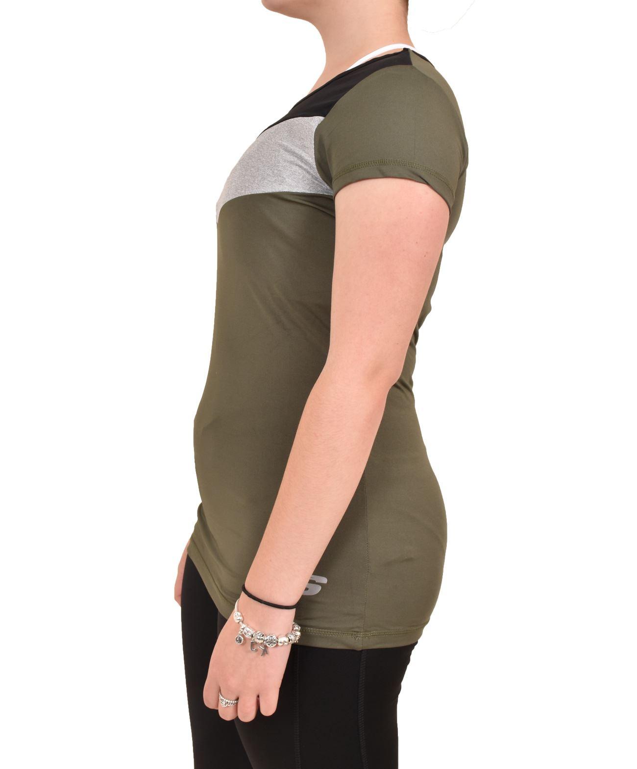 Camiseta-para-mujer-Skechers-Secado-Rapido-Top-senoras-de-Deportes-Activewear-Gimnasio-Fitness-Dance miniatura 11
