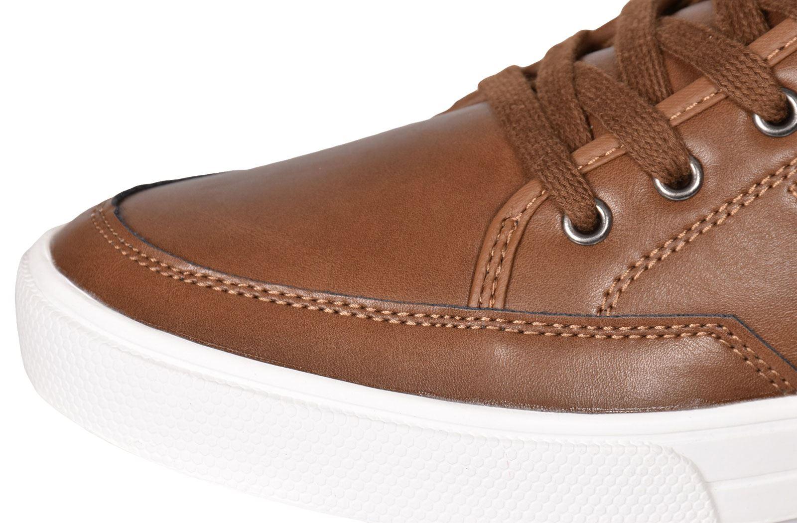 Crosshatch-Para-hombre-Tobillo-Alto-Zapatillas-Sneaker-Con-Cordones-Tapas-Planas-Botas-UK-Tamanos-7 miniatura 34