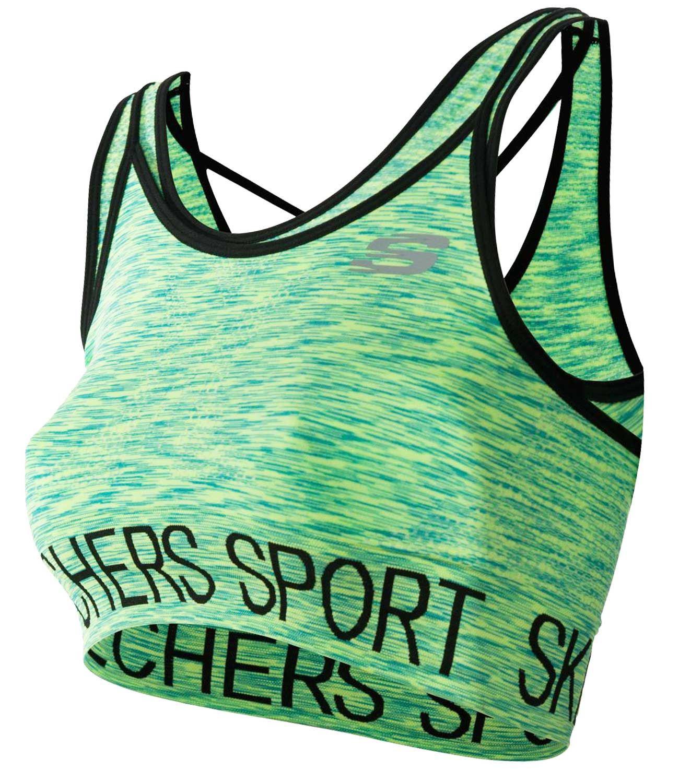 Skechers-senoras-para-mujer-Sujetador-Deportivo-Activo-Gimnasio-Correr-Top-Corto-Active-Wear miniatura 4