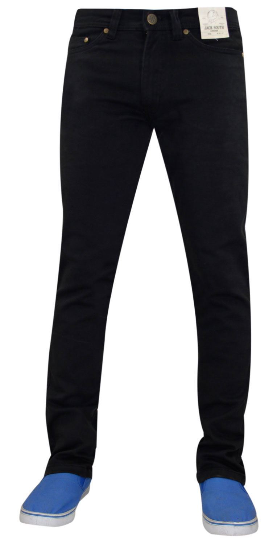 Mens-Jeans-Ajustados-Slim-Fit-Denim-Sarga-de-algodon-elastico-Pantalones-Chinos-Pantalones miniatura 12