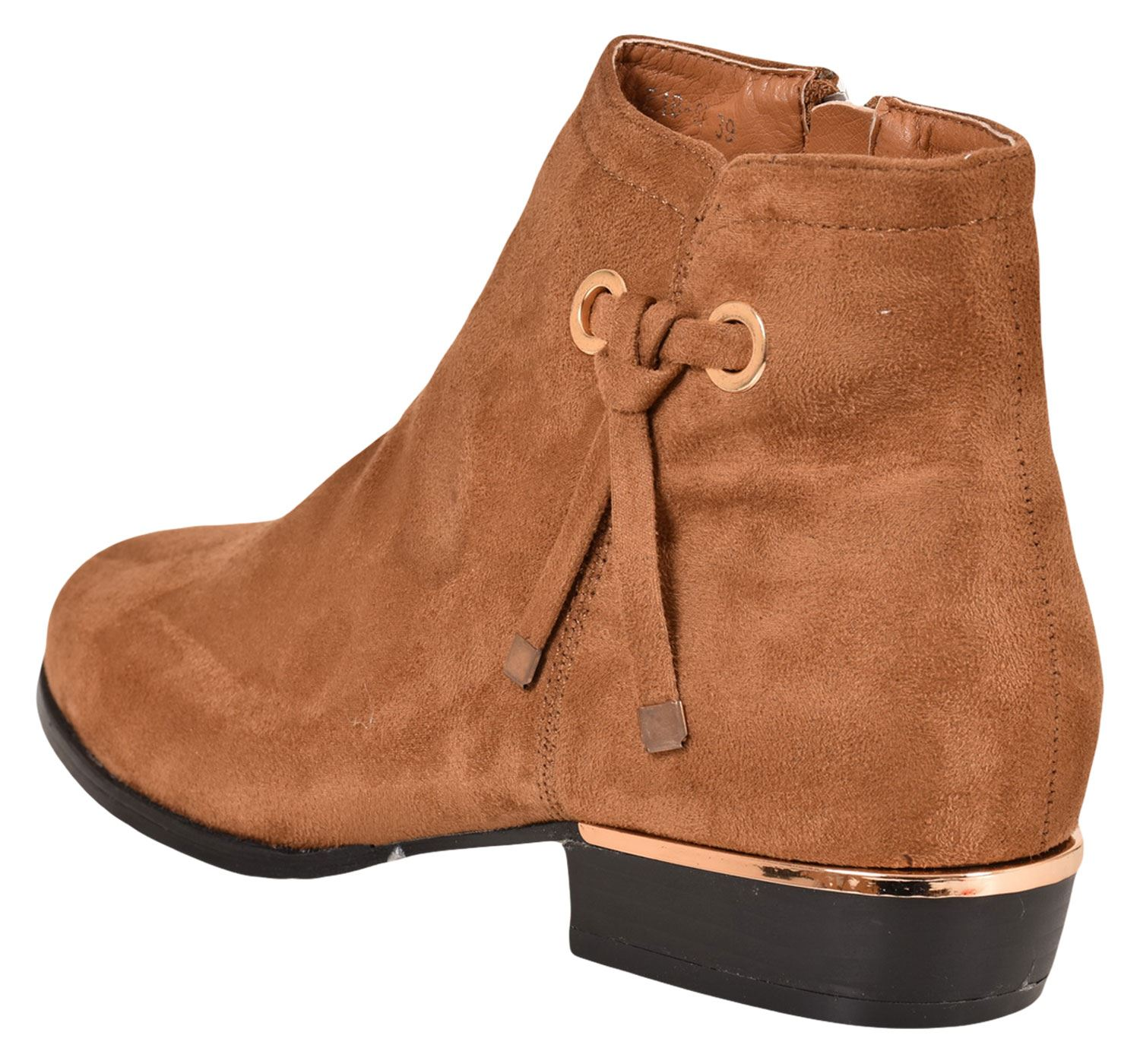 New-Women-Chelsea-Ankle-Boots-Winter-Block-Heel-Ladies-Biker-Style-Boots thumbnail 39