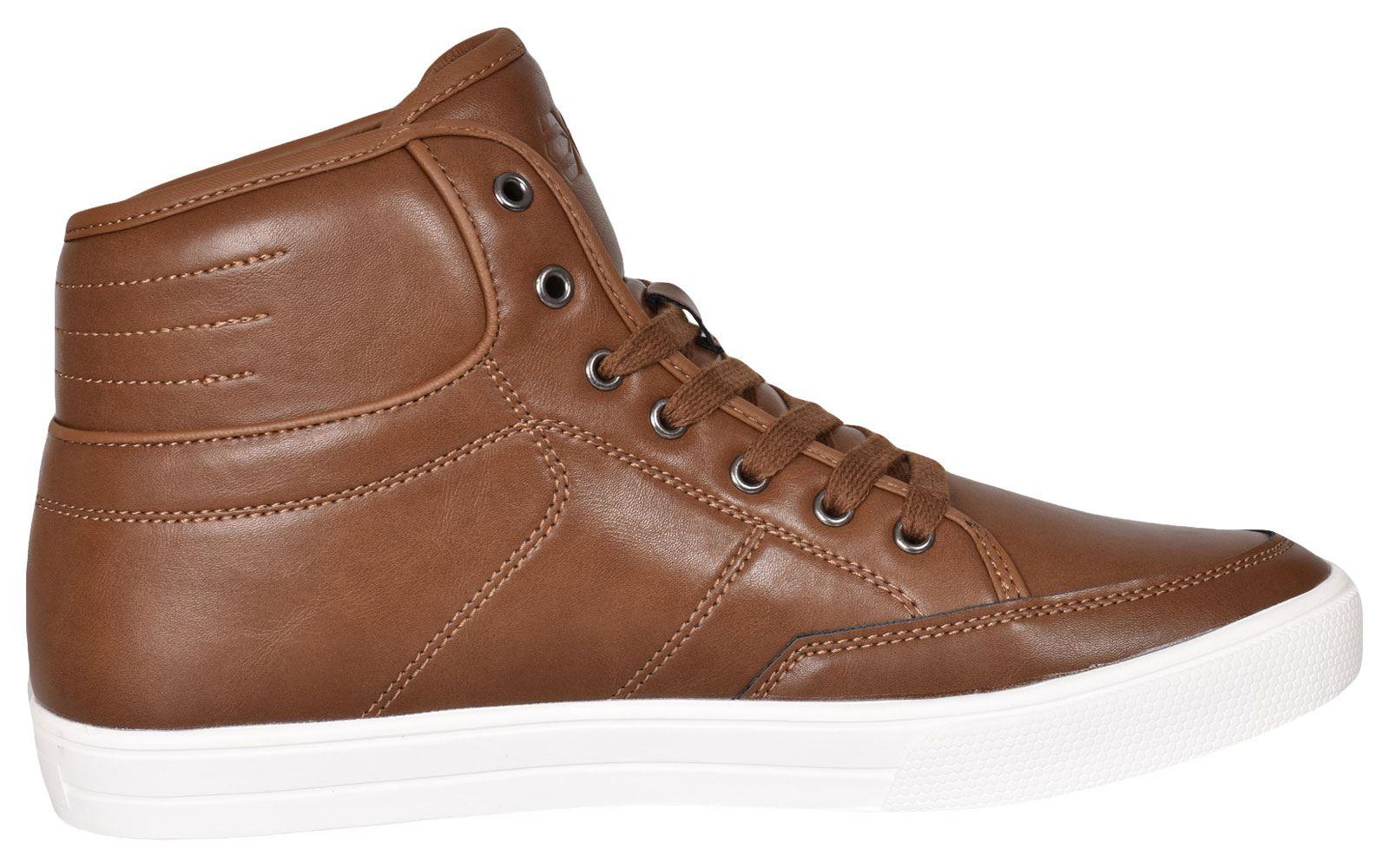 Crosshatch-Para-hombre-Tobillo-Alto-Zapatillas-Sneaker-Con-Cordones-Tapas-Planas-Botas-UK-Tamanos-7 miniatura 27