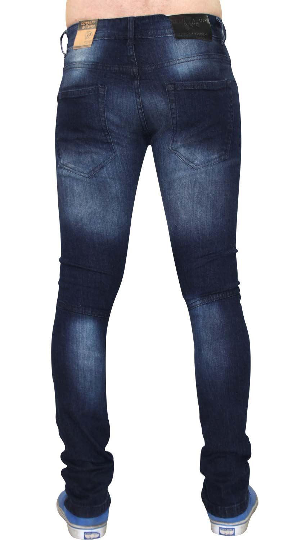 Para-Hombre-Biker-Skinny-Jeans-lealtad-amp-Faith-Slim-Fit-Pantalones-Ajustados-Pantalones-rasgada miniatura 15