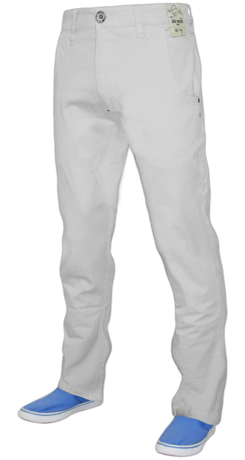 Men-Chinos-Regular-Fit-Jeans-Cotton-Stretch-Casual-Pants-Trousers-All-Waist-Size thumbnail 20