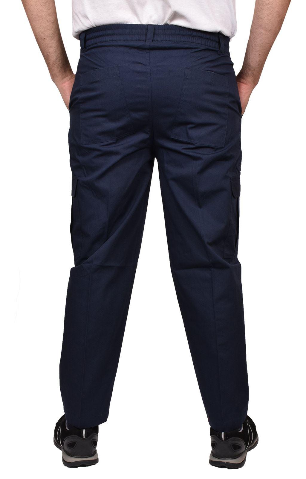 Para-Hombre-De-Carga-Combate-Pantalones-De-Trabajo-Bolsillos-Patrulla-Tactico-Pro-Algodon-Pantalones miniatura 12