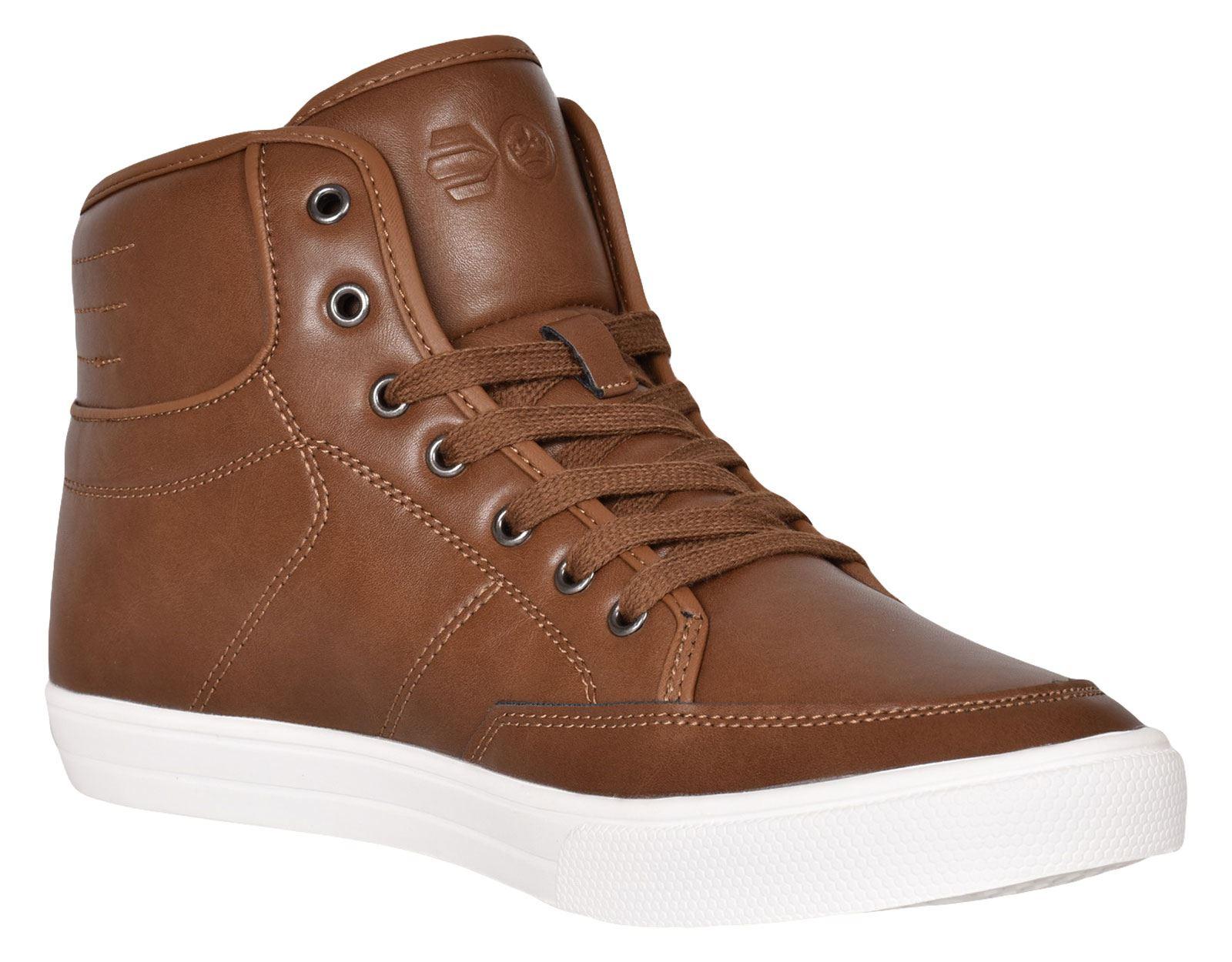 Crosshatch-Para-hombre-Tobillo-Alto-Zapatillas-Sneaker-Con-Cordones-Tapas-Planas-Botas-UK-Tamanos-7 miniatura 28
