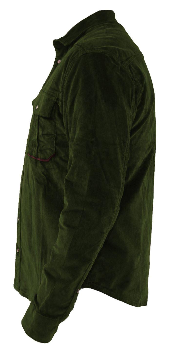 Mens-Corduroy-Cotton-Shirt-Long-Sleeve-Casual-Shirts-Jacksouth-Jacket-Top-S-2XL thumbnail 22