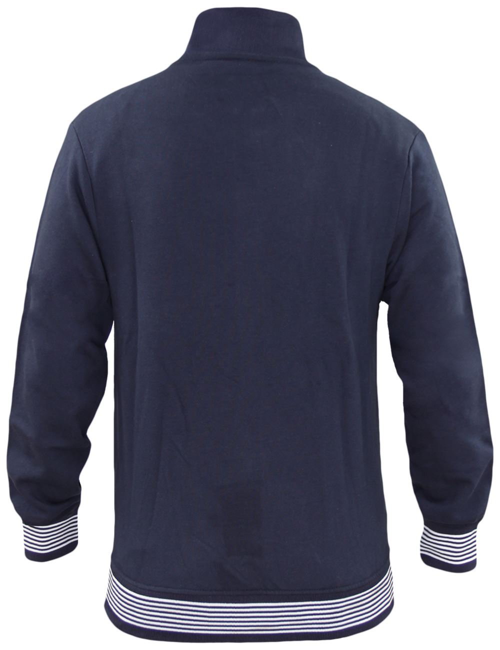 Mens-Jackets-Plain-Striped-Collar-Cuff-Zip-Sweatshirts-Ribbed-Sports-Sweater-Top thumbnail 5