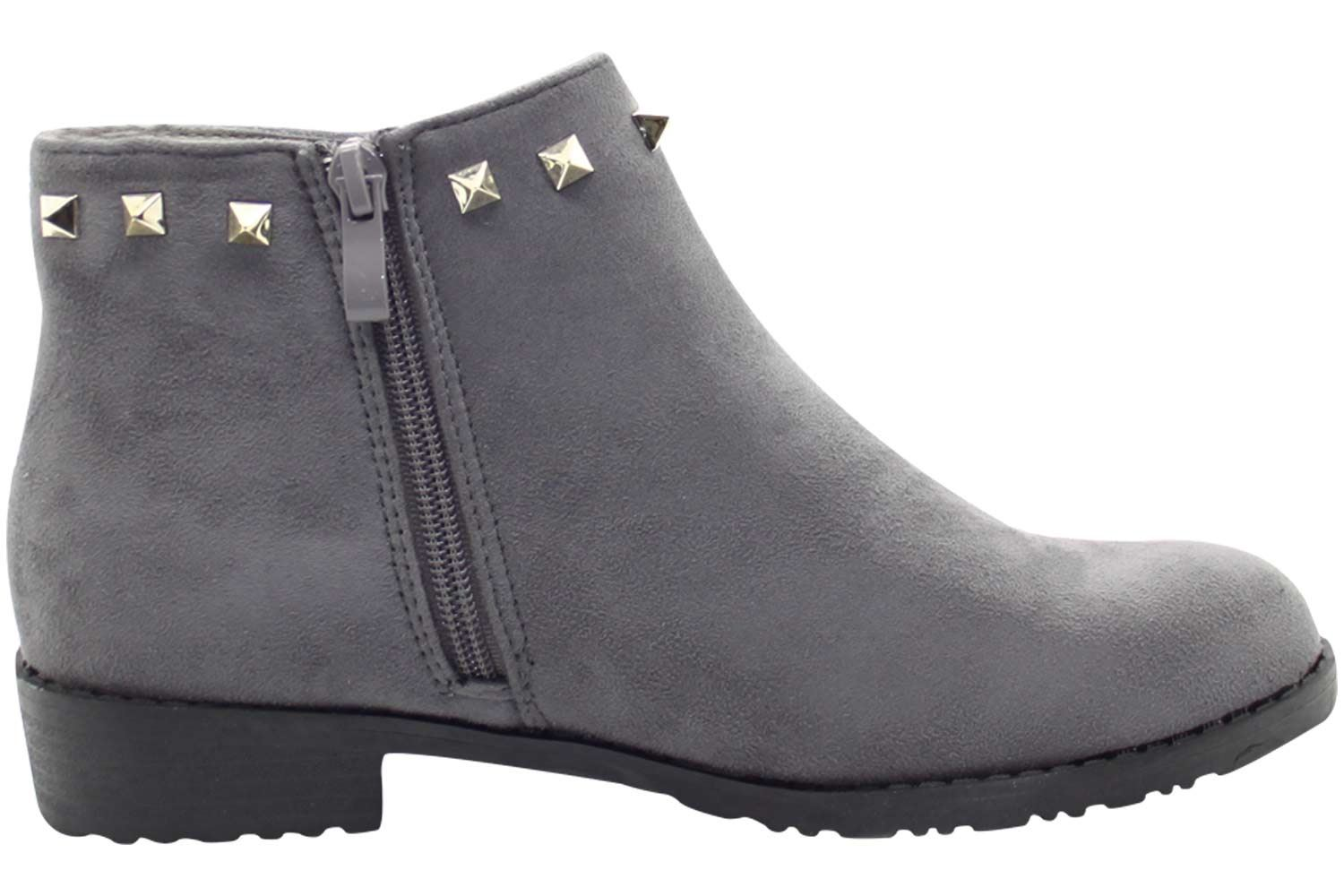 New-Women-Chelsea-Ankle-Boots-Winter-Block-Heel-Ladies-Biker-Style-Boots thumbnail 25
