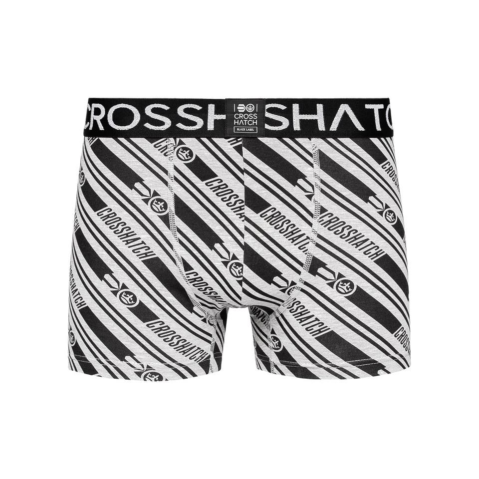 thumbnail 10 - Mens Crosshatch Boxers 3 Pack Shorts Underwear Trunks Underpants Multipack Sets