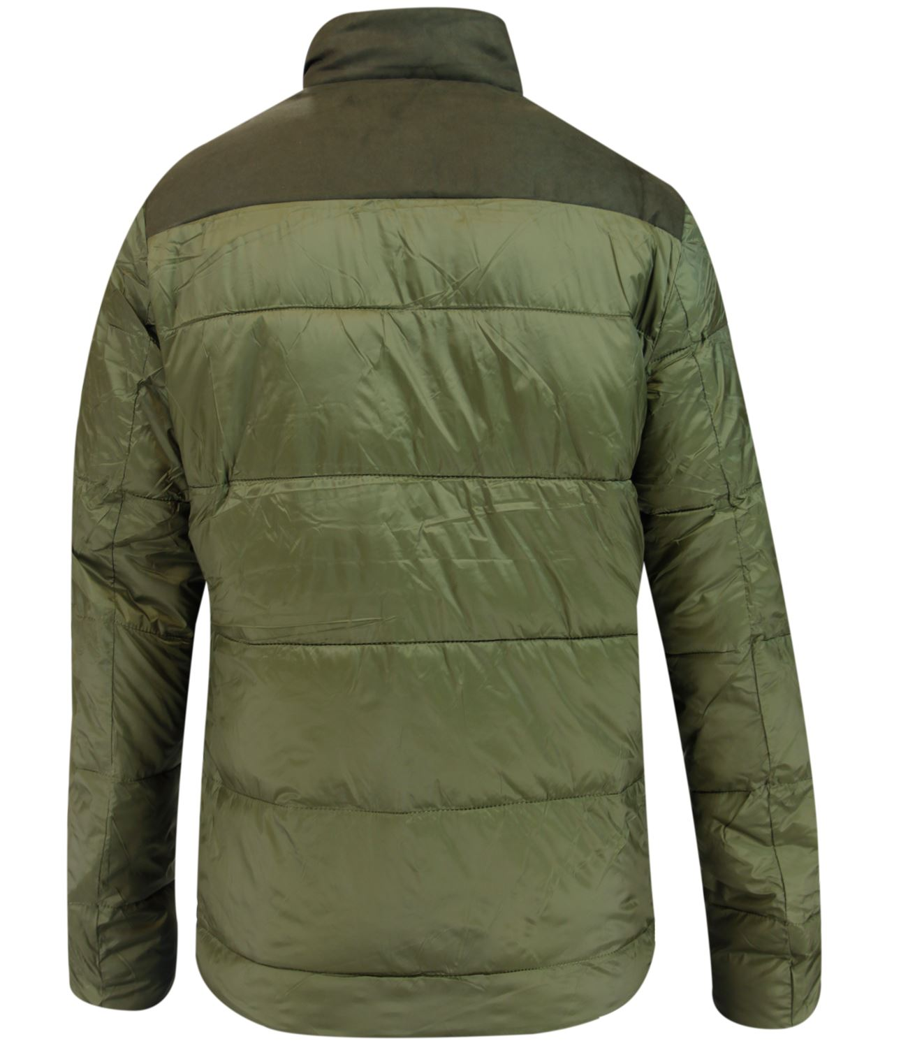 New-Mens-Puffer-Padded-Coat-Sherpa-Collar-Suede-Patches-Winter-Lined-Zip-Jacket thumbnail 6