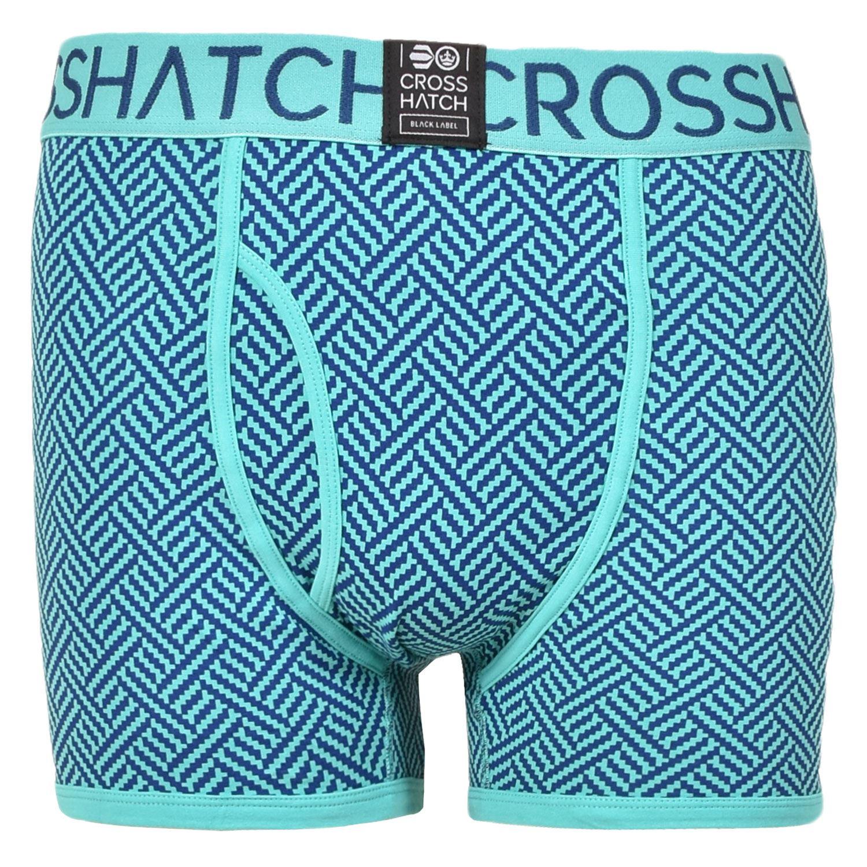thumbnail 6 - Mens Crosshatch Boxers 3 Pack Shorts Underwear Underpants Trunks Multipack Sets