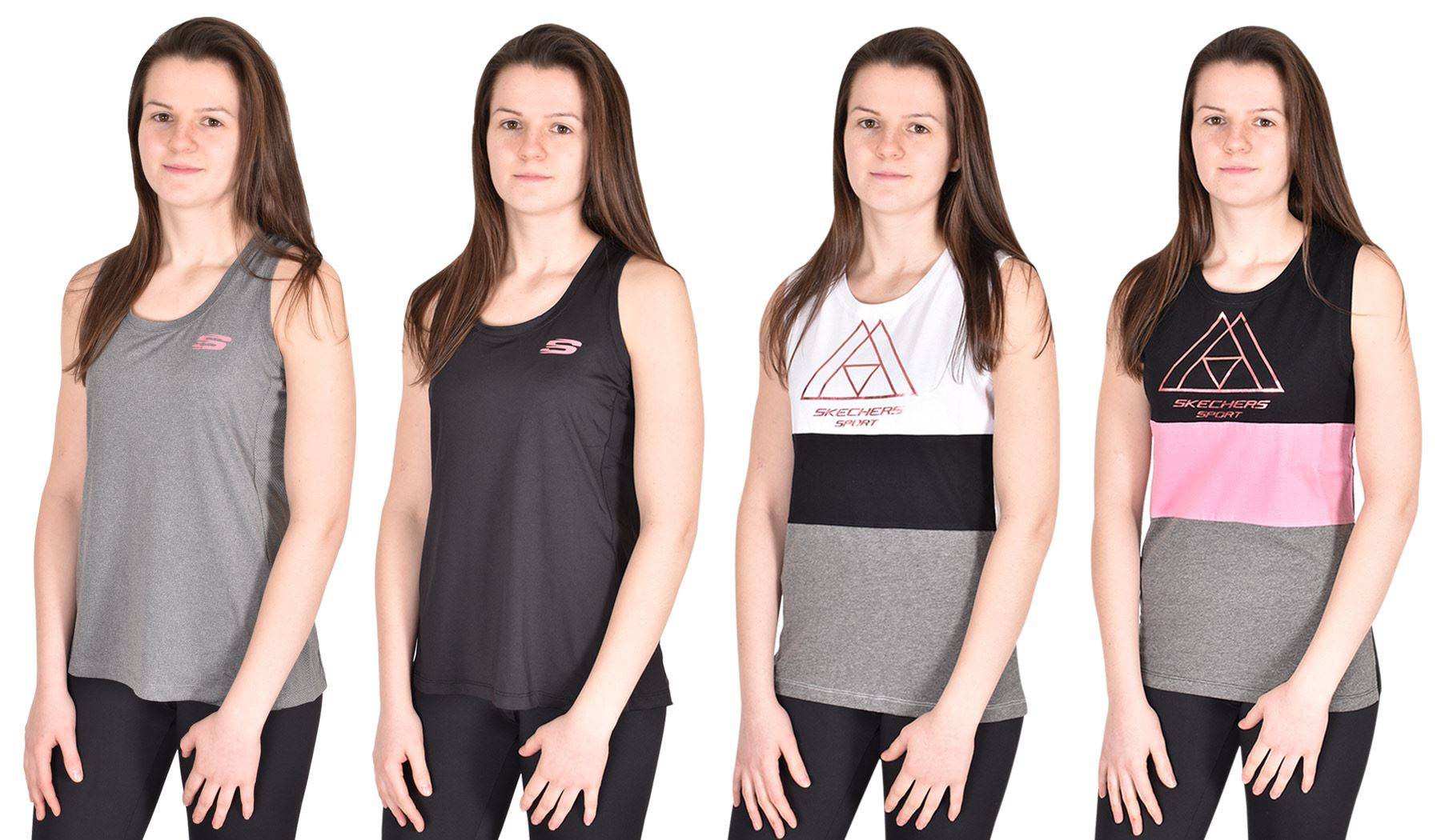 Skechers Womens Vests Gym Keep Fit Sports Ladies Activewear Tops Fitness  Yoga 3d14c7d8dc31
