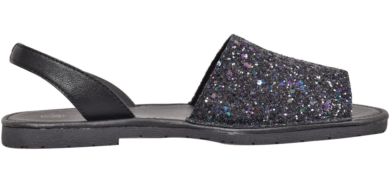 Truffle-Ladies-Menorcan-Sandals-Slingback-Flat-Glitter-Peep-Toe-Spanish-Shoes thumbnail 4