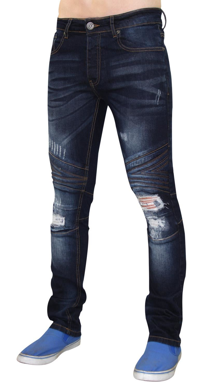 Para-Hombre-Biker-Skinny-Jeans-lealtad-amp-Faith-Slim-Fit-Pantalones-Ajustados-Pantalones-rasgada miniatura 17
