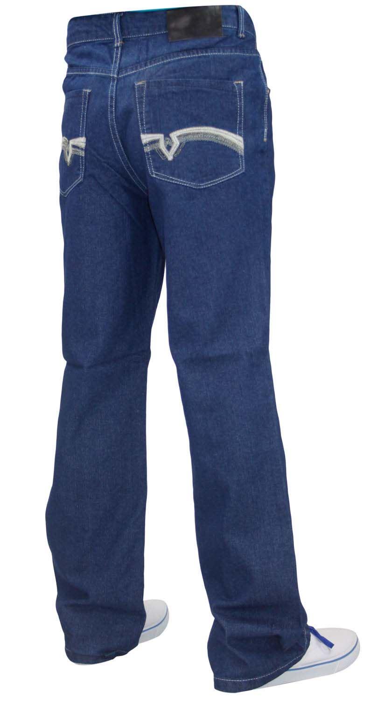 New-Mens-Slim-Boot-Cut-Denim-Jeans-Regular-Fit-Waist-30-to-40