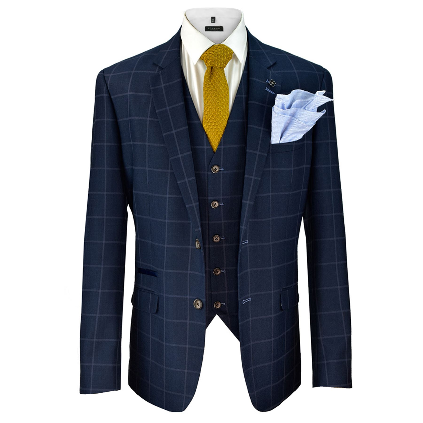 Mens Cavani Macy Wedding Blazer Waistcoat Trouser 3 Piece Suit ...