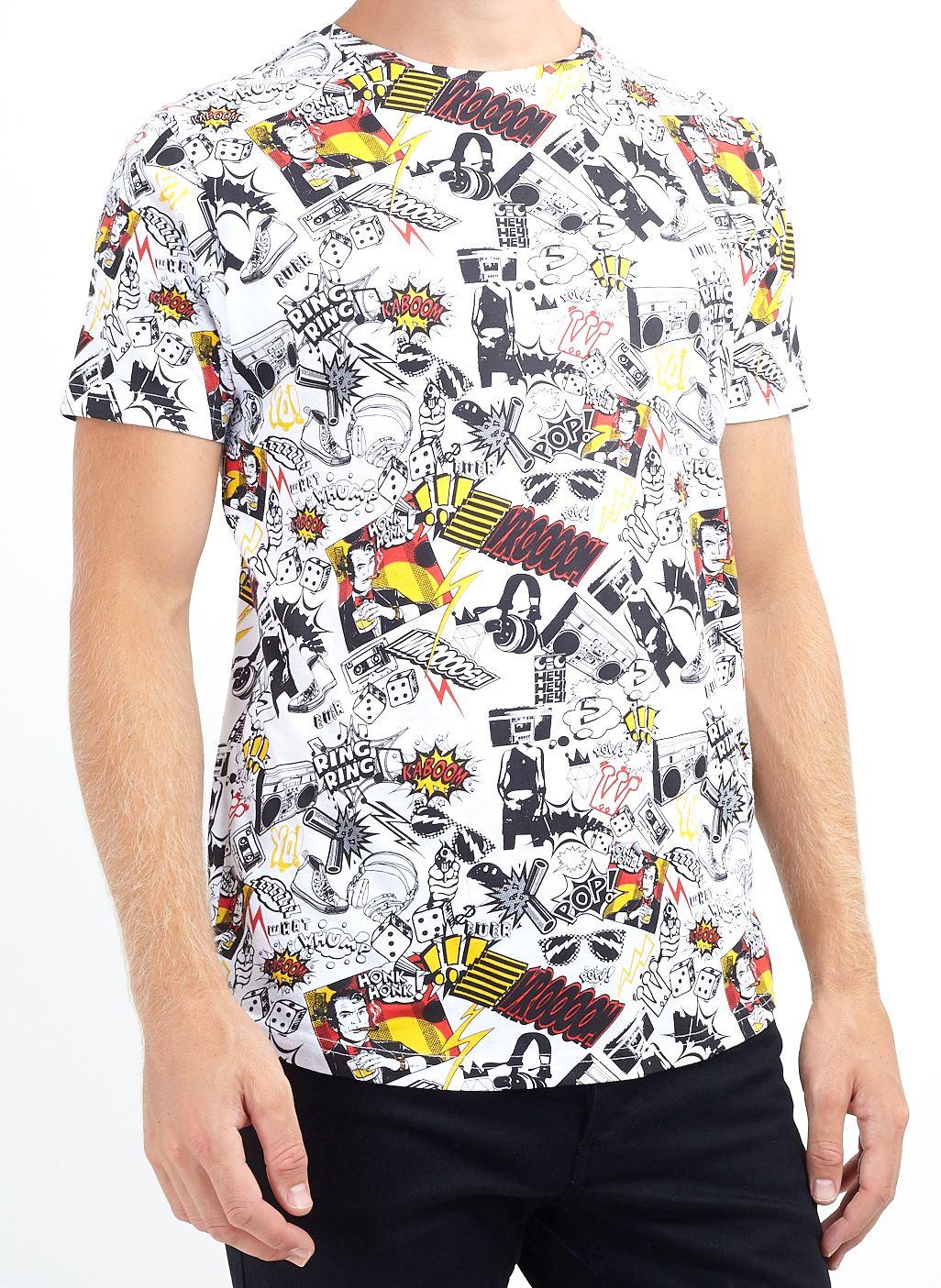 Mens Brave Soul Short Sleeve Crew Neck Hustle Original Graphic Summer T-Shirt