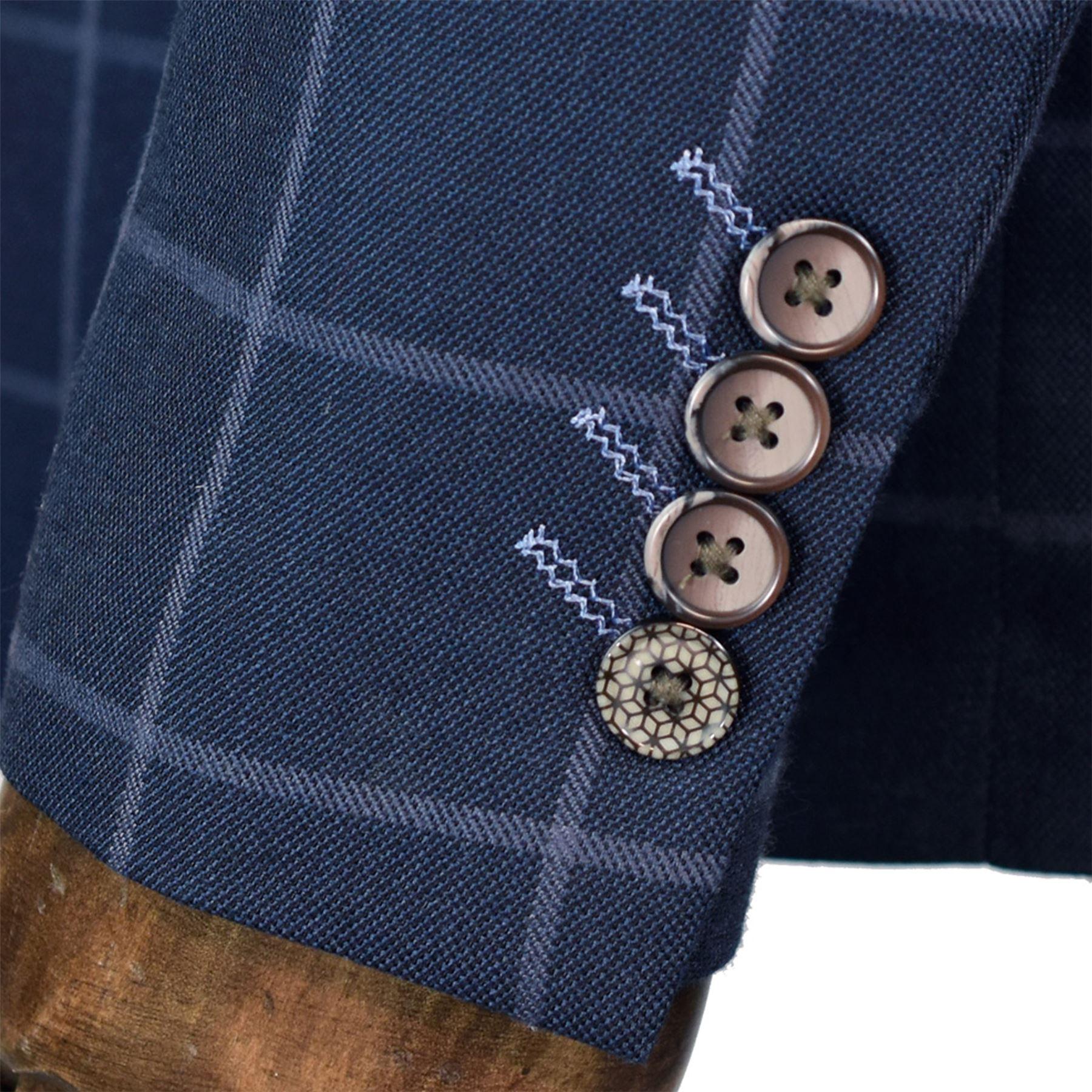 Blazer-Para-Hombre-Cavani-Macy-Boda-Chaleco-Pantalones-3-piezas-traje-se-vende-por-separado miniatura 4