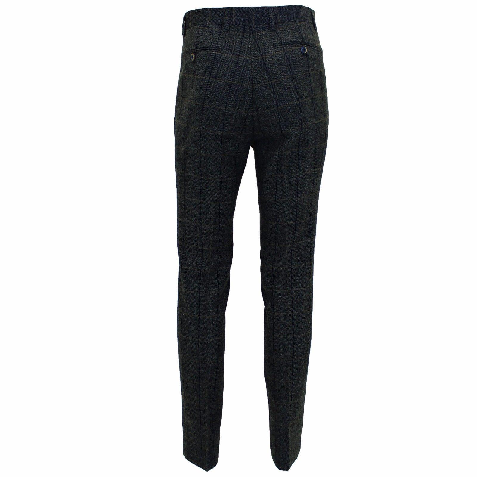 Mens-Cavani-Wool-Tweed-Blazer-Waistcoat-Trousers-3-Piece-Suit-Sold-Separately thumbnail 5
