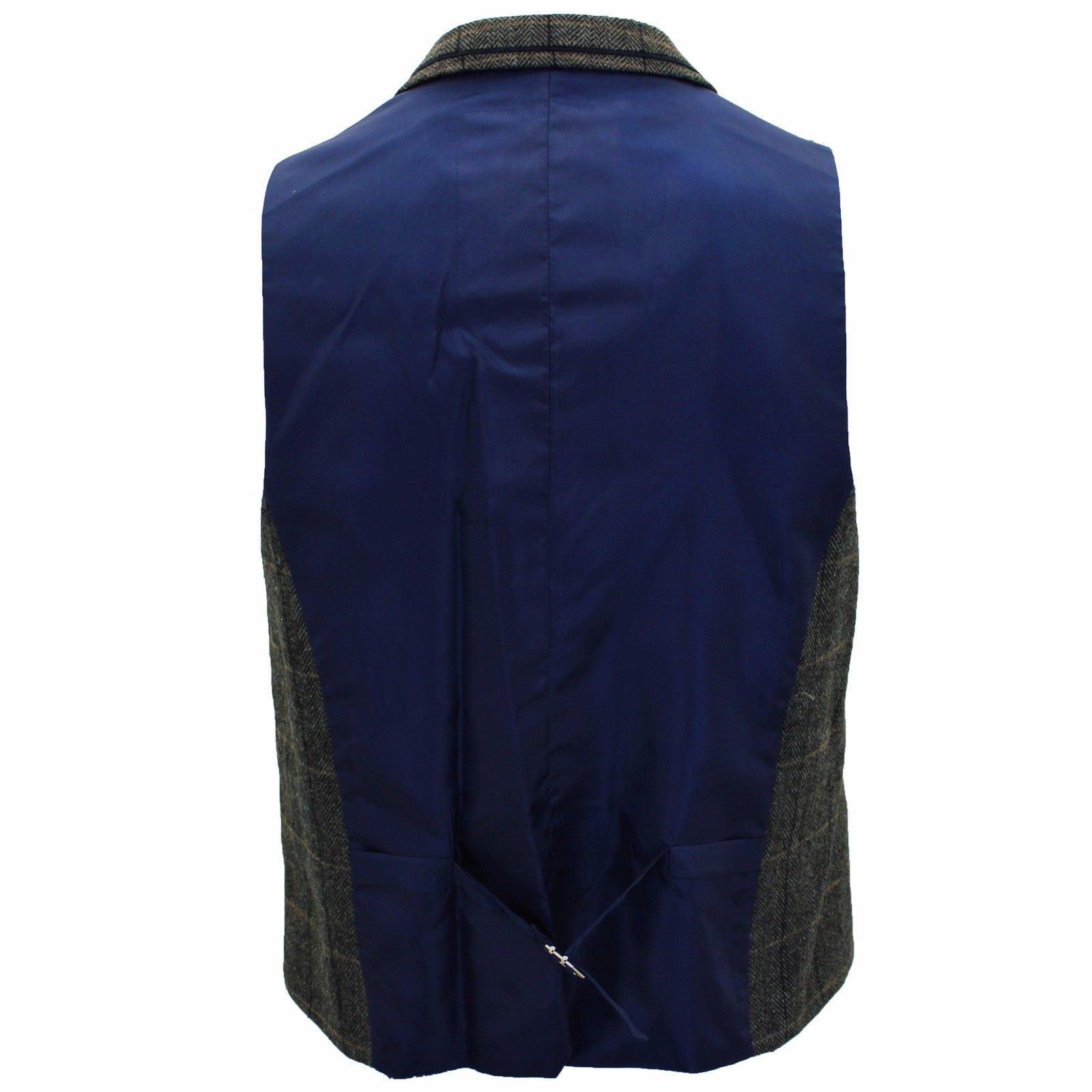 Mens-Cavani-Wool-Tweed-Blazer-Waistcoat-Trousers-3-Piece-Suit-Sold-Separately thumbnail 7