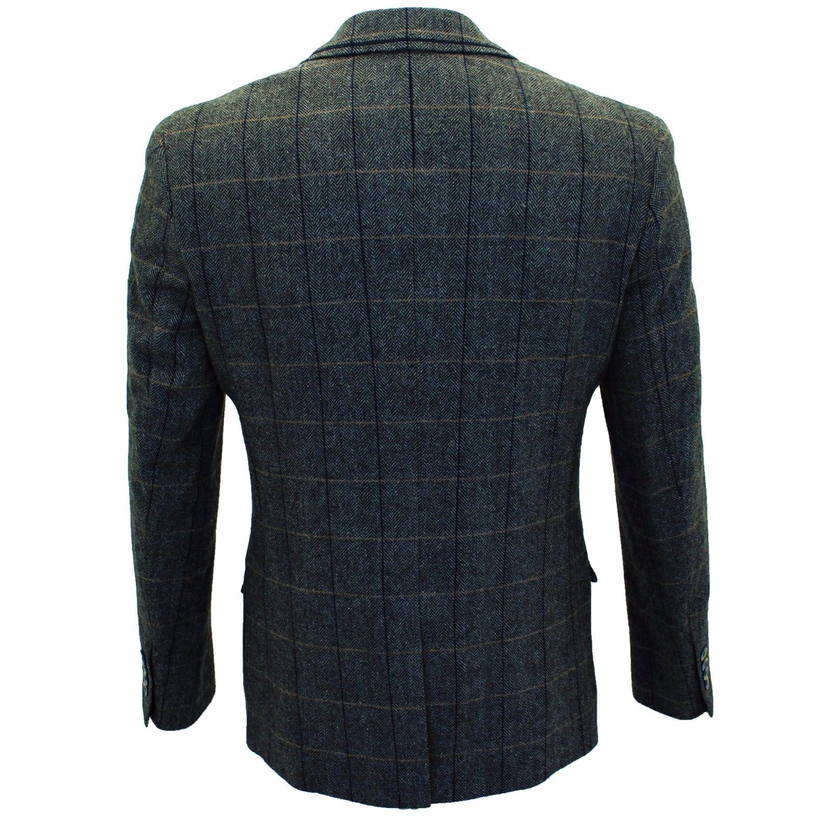 Mens-Cavani-Wool-Tweed-Blazer-Waistcoat-Trousers-3-Piece-Suit-Sold-Separately thumbnail 3