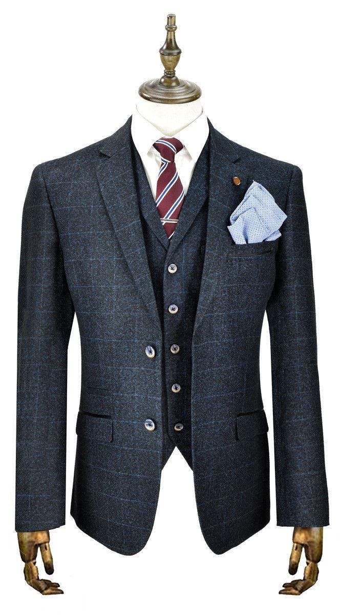 Homme CAVANI Tweed Blazer Pièce Gilet pantalon 3 Pièce Blazer Costume vendu séparément b5fc50