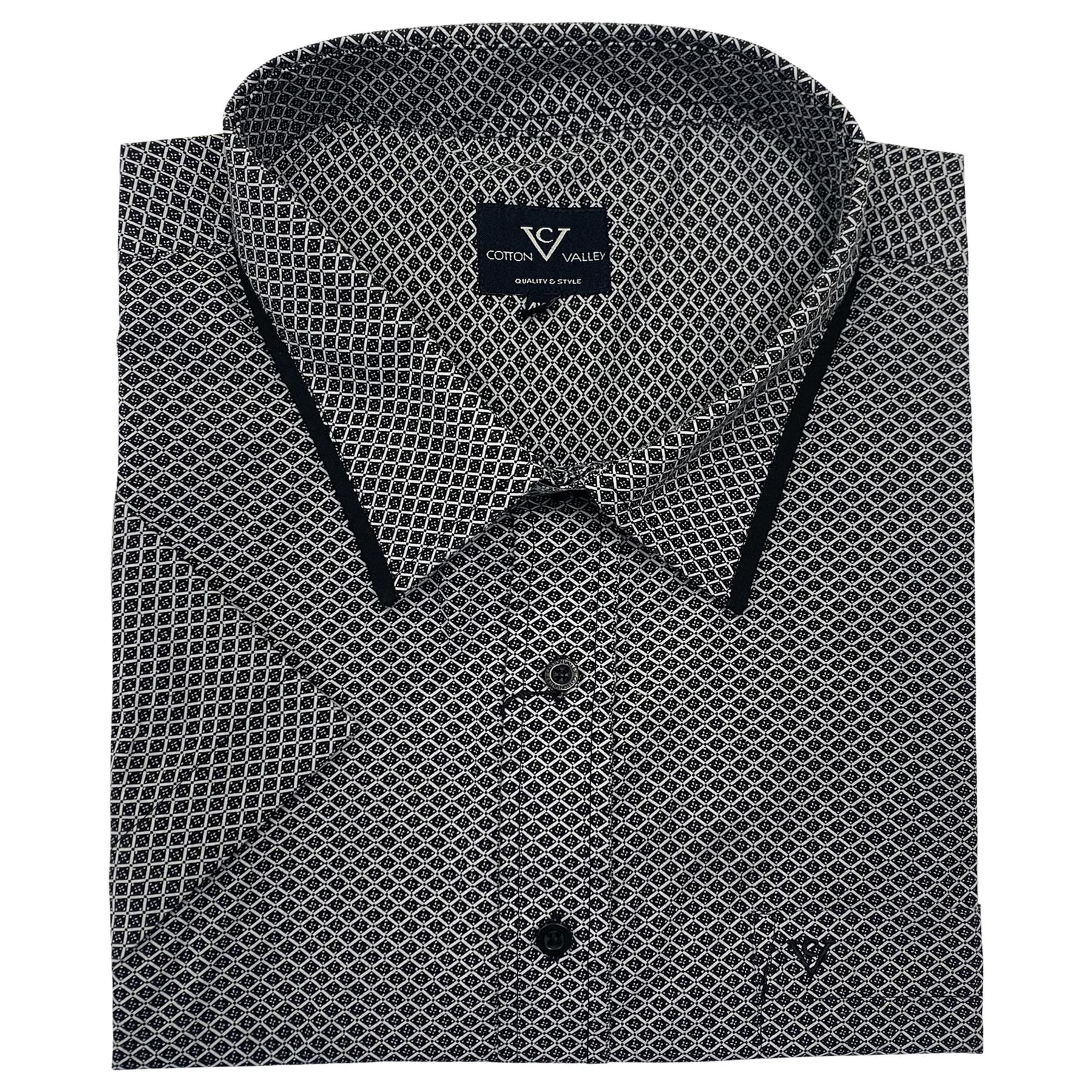 Mens Big Size Cotton Valley Check Casual Short Sleeve Shirt 2XL 3XL 4XL 5XL 6XL