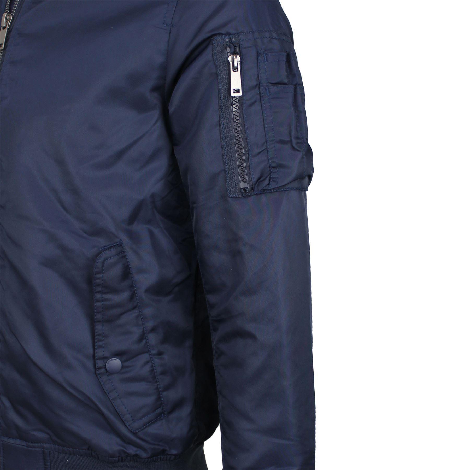 Mens Brave Soul Oslo  Nylon Padded Contrast Lined MA1 Bomber Winter Jacket Coat