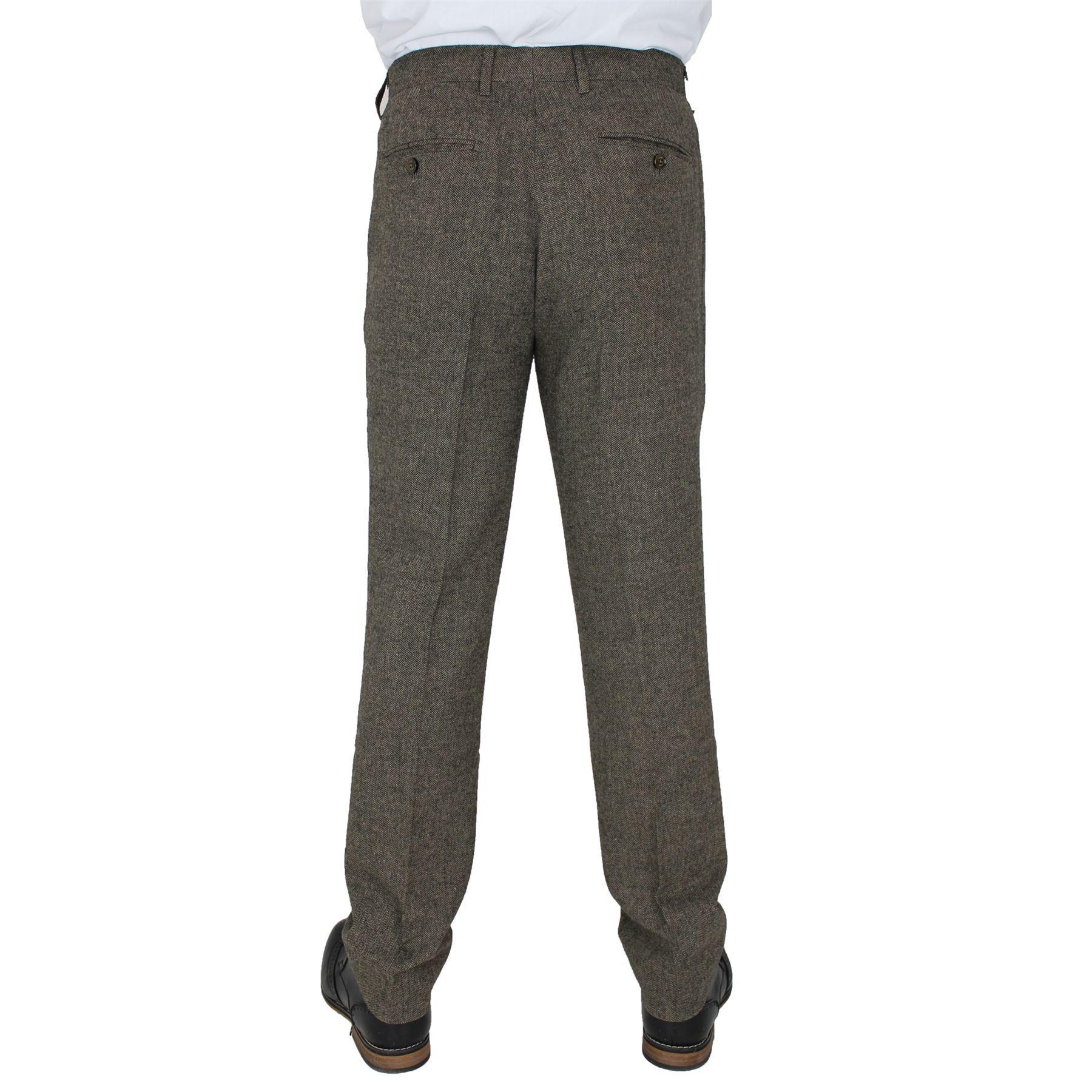 Mens-Cavani-Brown-Tweed-Blazer-Waistcoat-Trouser-3-Piece-Suit-Sold-Separately thumbnail 9