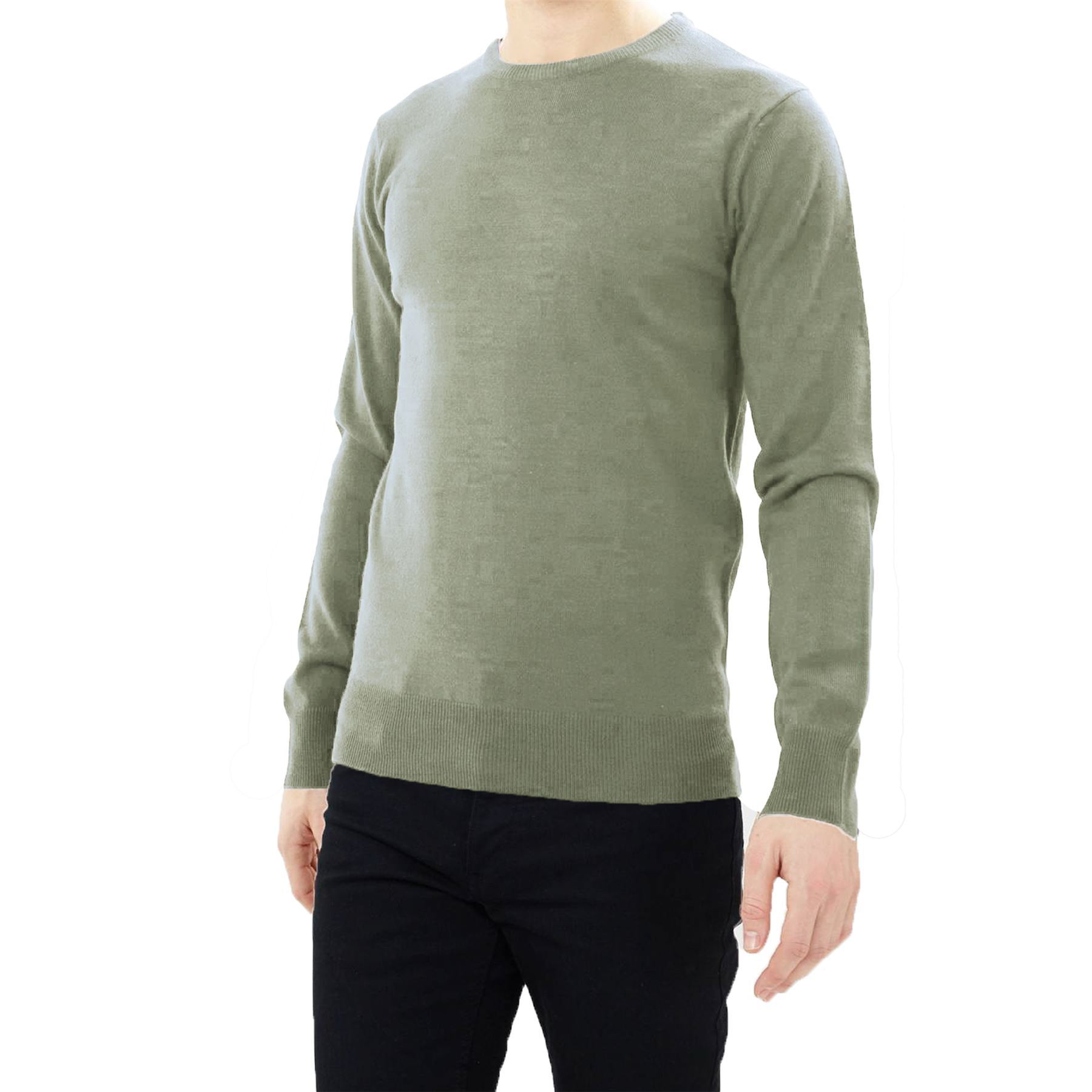 Mens Brave Soul Thin Flat Knit Tubular Crew Neck Winter Jumper Casual Sweater