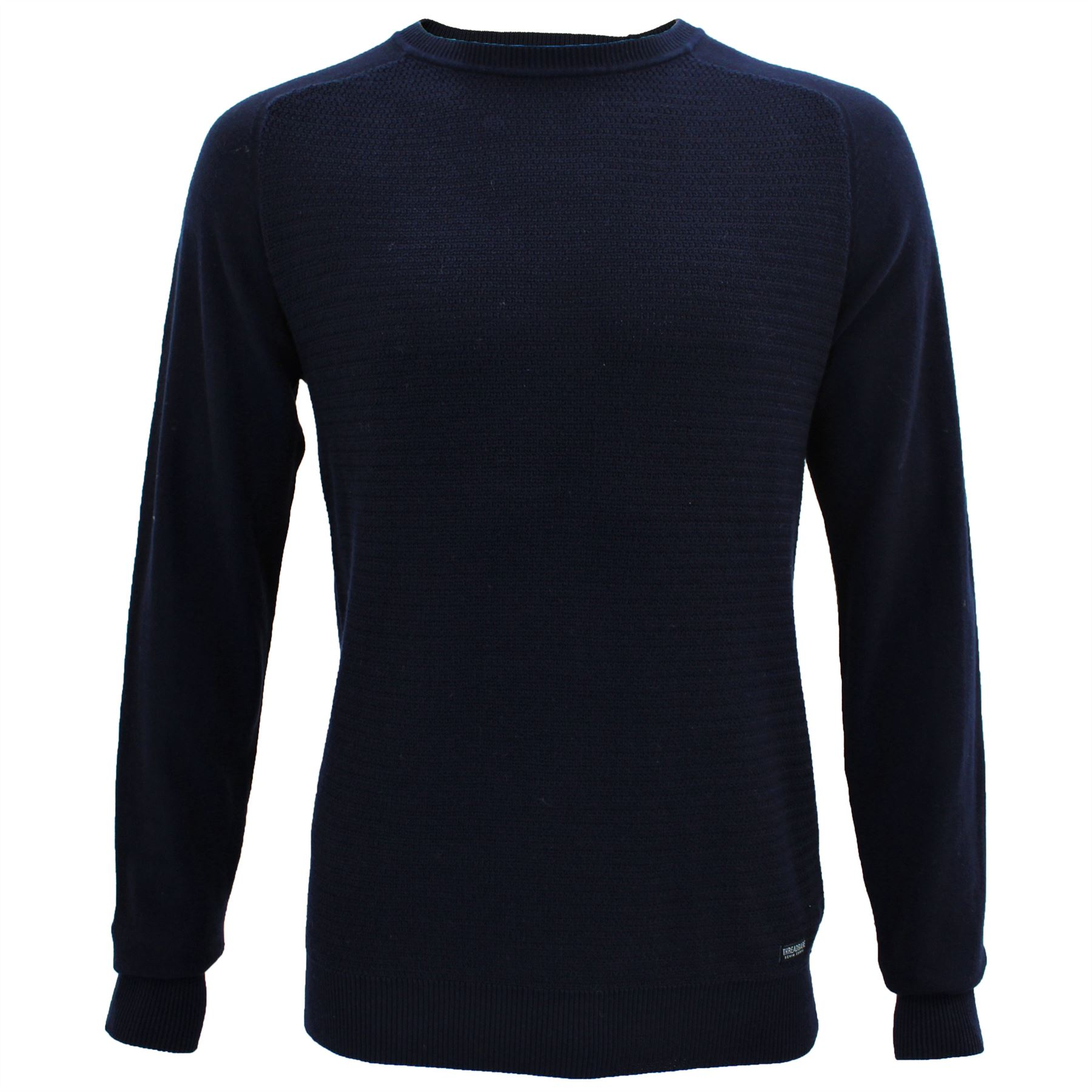 cddd14d4 Mens Thin Knit Textured Soft Feel Cotton Crew Neck Jumper By ...