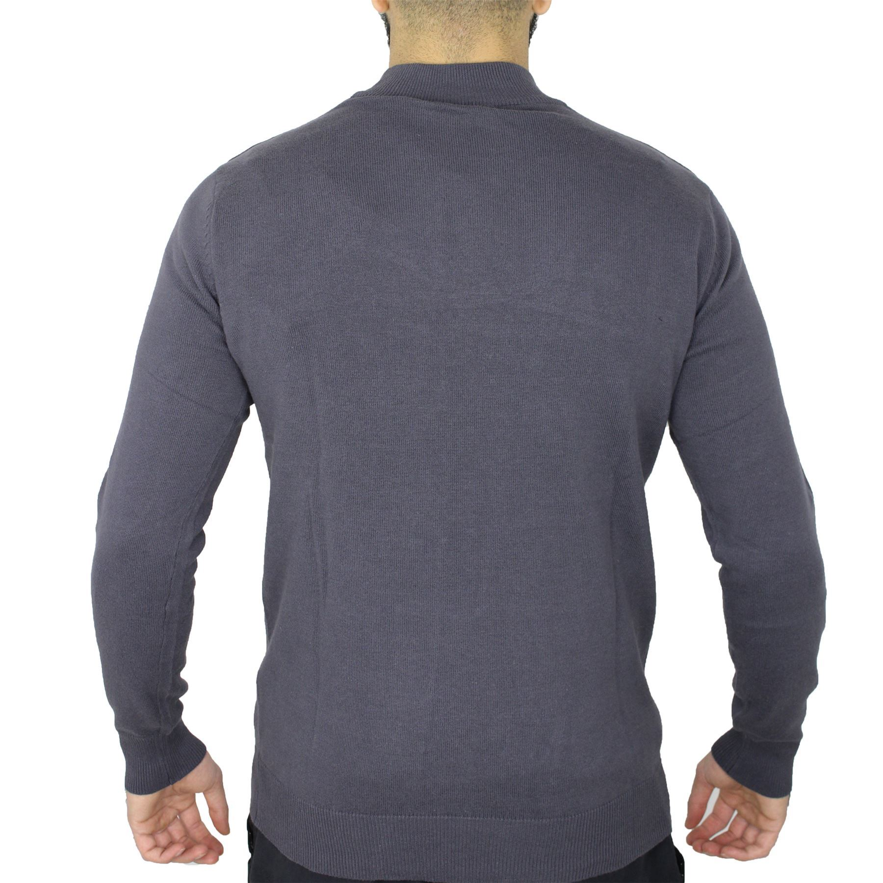 Mens Brave Soul Turtle High Polo Neck Cotton Pull Over Knitted Jumper Sweater