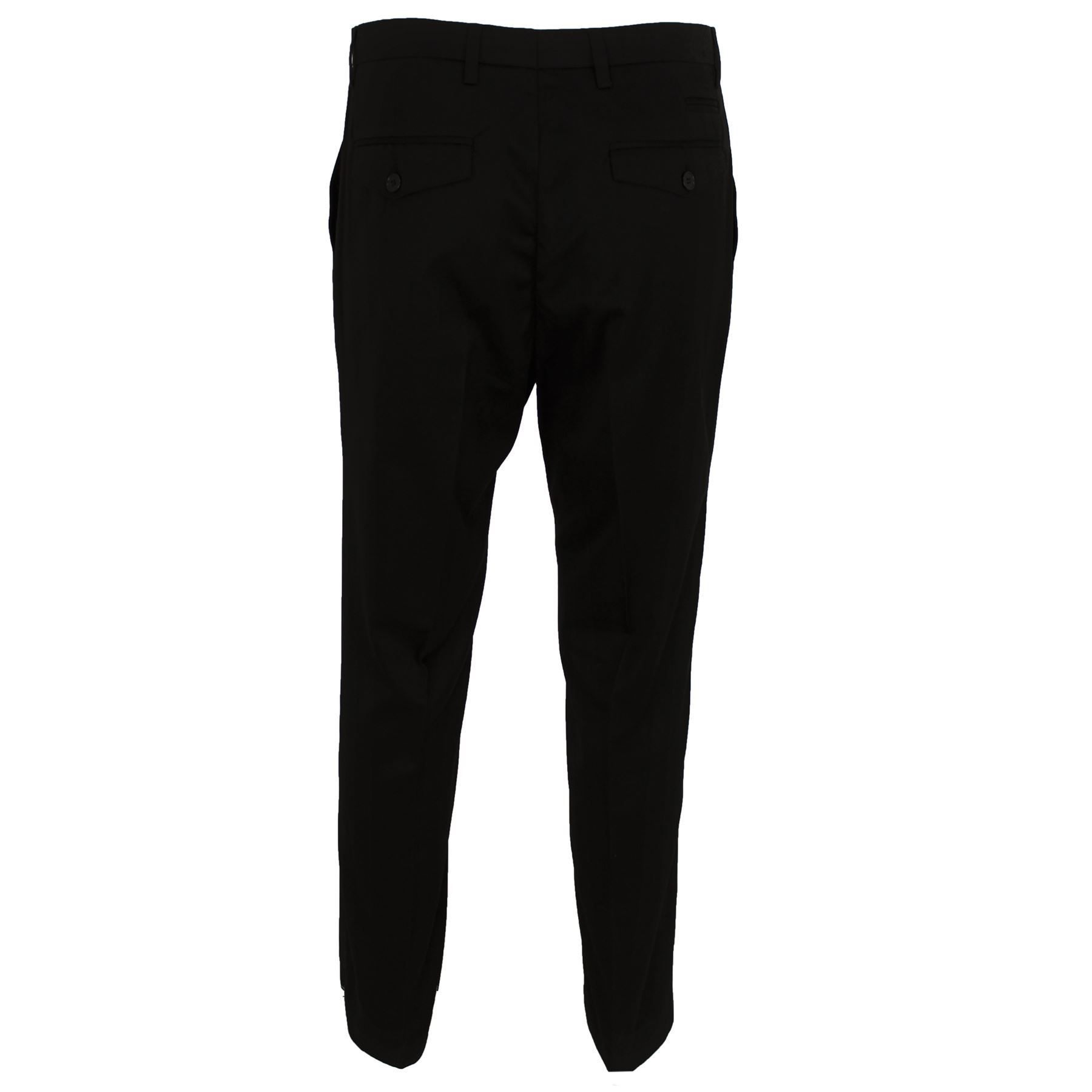 Mens Cavani Smart Formal Casual Plain Black Pants Slim Fit ...
