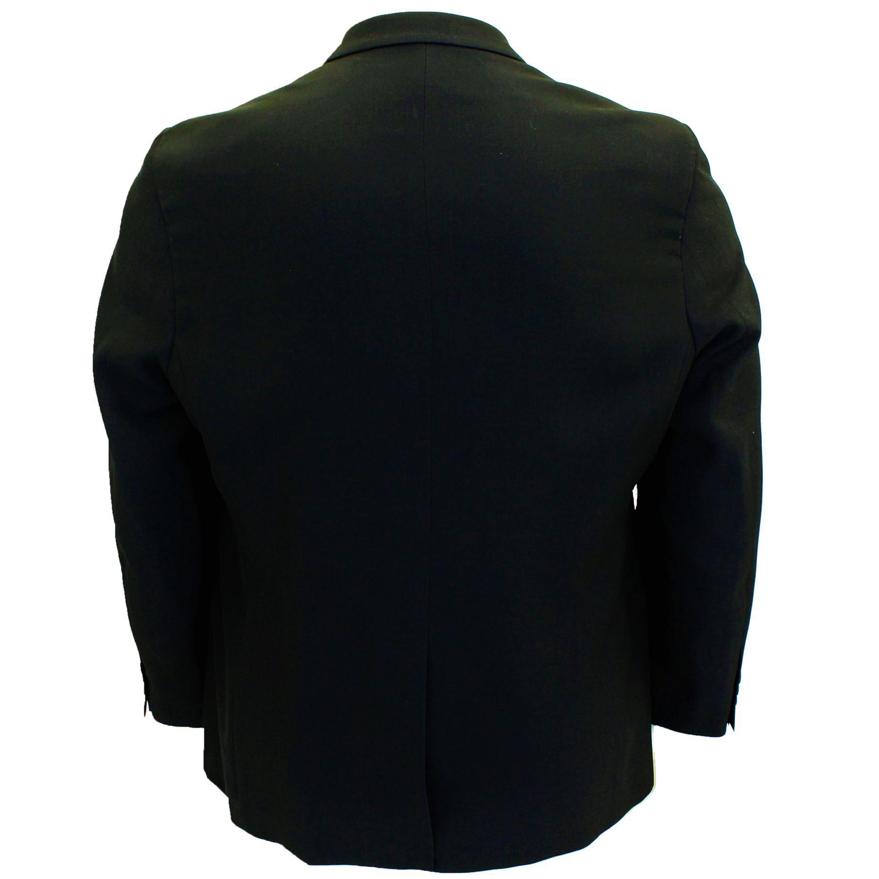 Para-Hombre-Tamano-Grande-Negro-Chaleco-Chaqueta-2-piezas-traje-se-vende-por-separado-50-52-54-56-58 miniatura 3