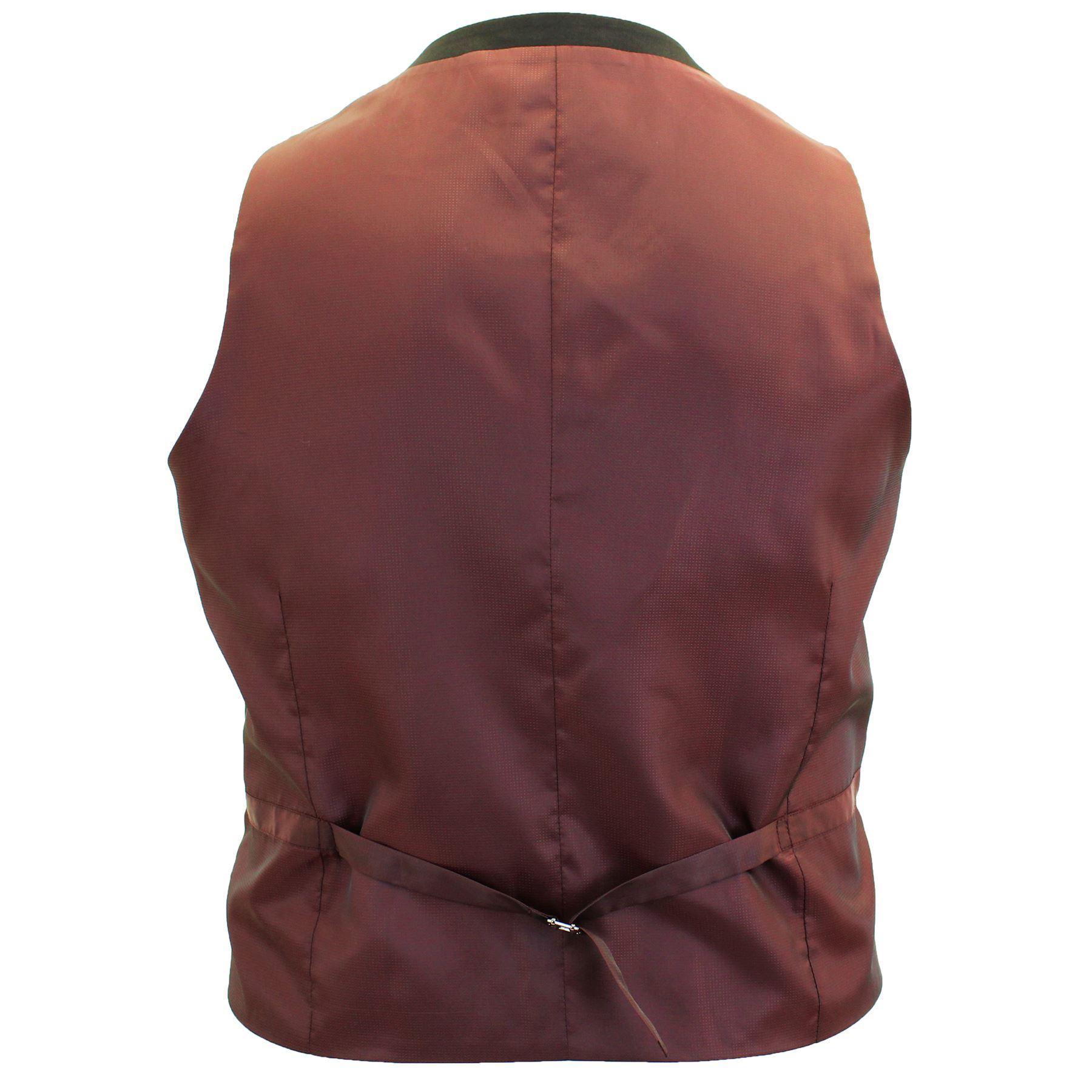 Para-Hombre-Tamano-Grande-Negro-Chaleco-Chaqueta-2-piezas-traje-se-vende-por-separado-50-52-54-56-58 miniatura 5