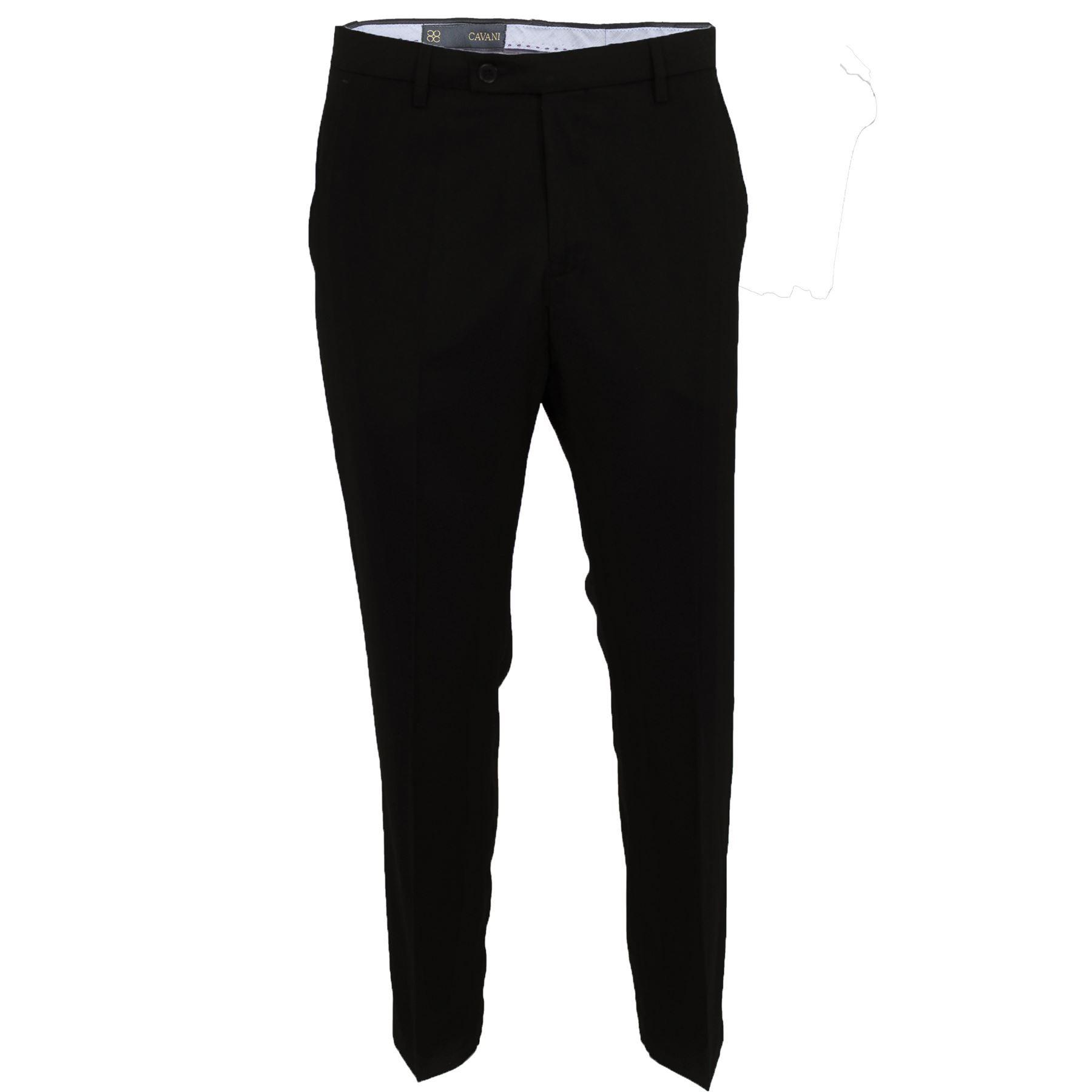exceptional range of styles cost charm the cheapest Details about Mens Cavani Smart Formal Casual Plain Black Pants Slim Fit  Suit Trousers