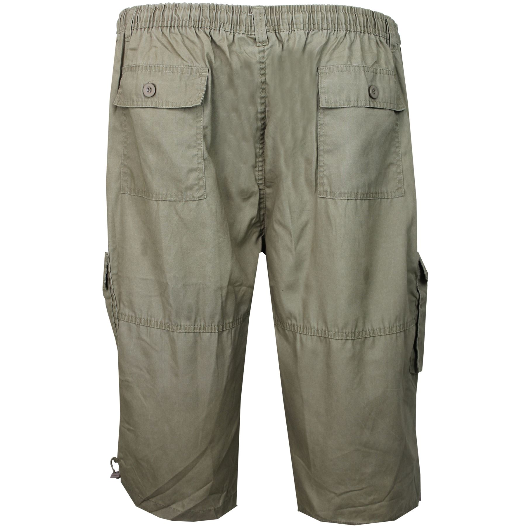 Mens Duke King Big Size Elasticated Cargo Summer Shorts 3//4 Length Casual Pants