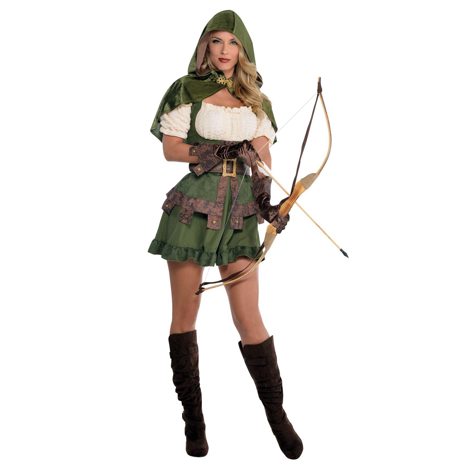 Ladies Medieval Elf Elven Archer Robin Hood Maid Marion Pan Fancy ...