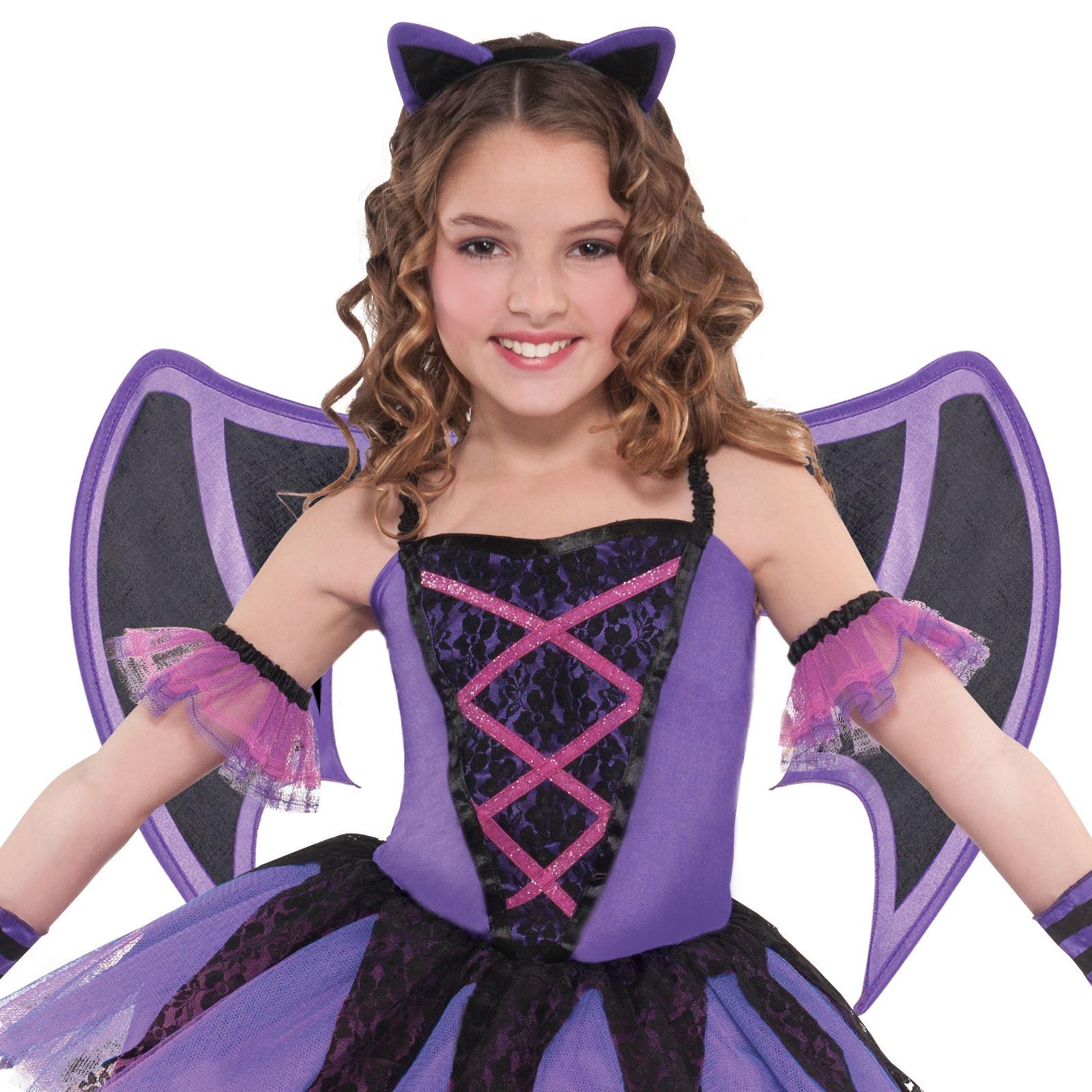 d07fa7304 Girls Ballerina Bat Costume Halloween Fancy Dress Party Kids ...