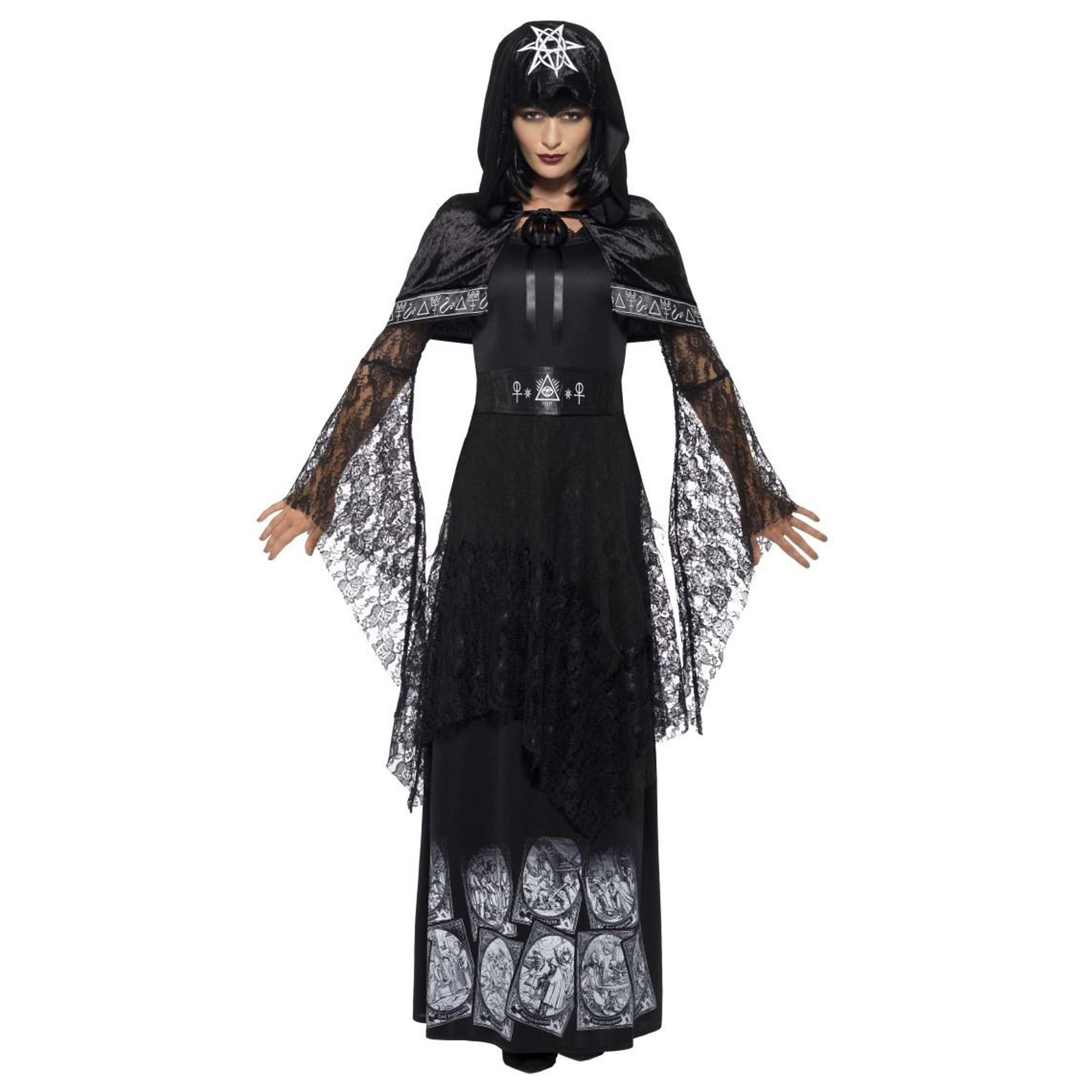 Halloween Costume 398.Details About Adult Ladies Black Magic Mistress Sexy Voodoo Hostess Duchess Halloween Costume