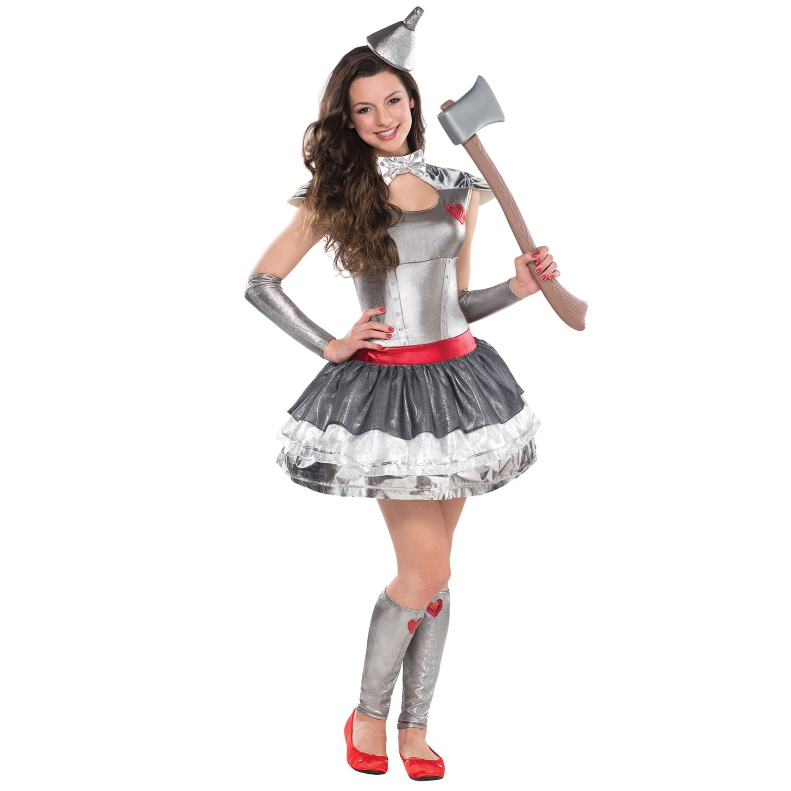 Teen Tin Heartthrob Lady Wizard Fancy Dress Of Oz Girl Party Costume