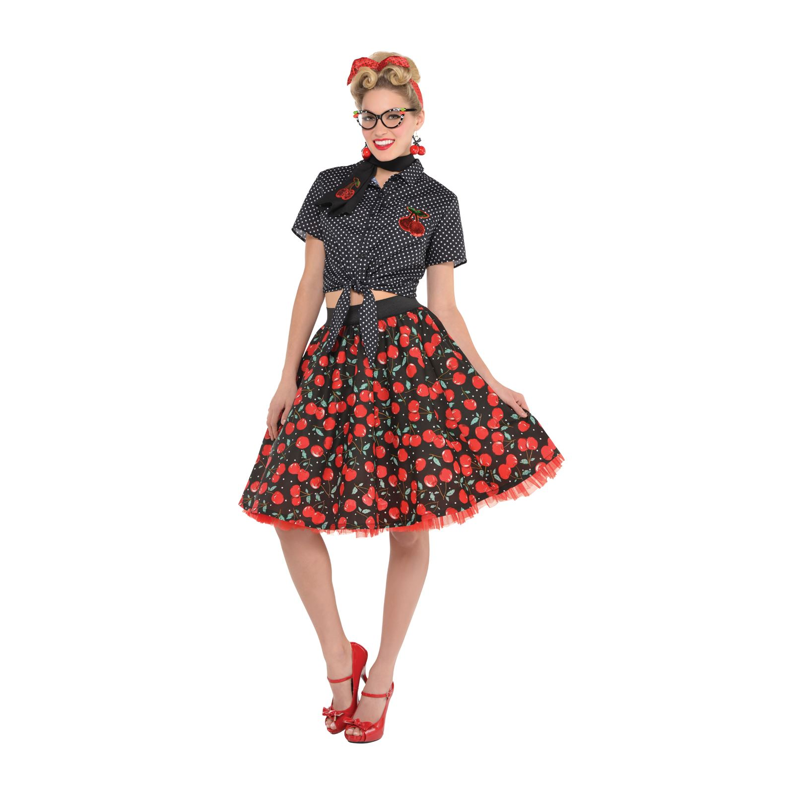 ladies 50s pin up rock n roll vintage rockabilly petticoat skirt fancy dress. Black Bedroom Furniture Sets. Home Design Ideas