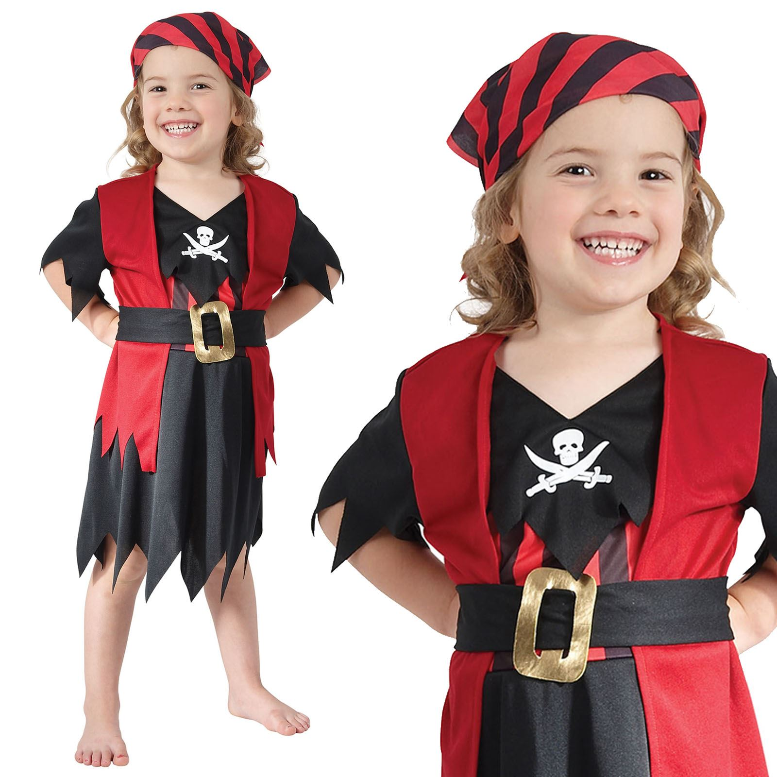 Boy's Toddler Pirate Boy Fancy Dress Costume Book Week Outfi