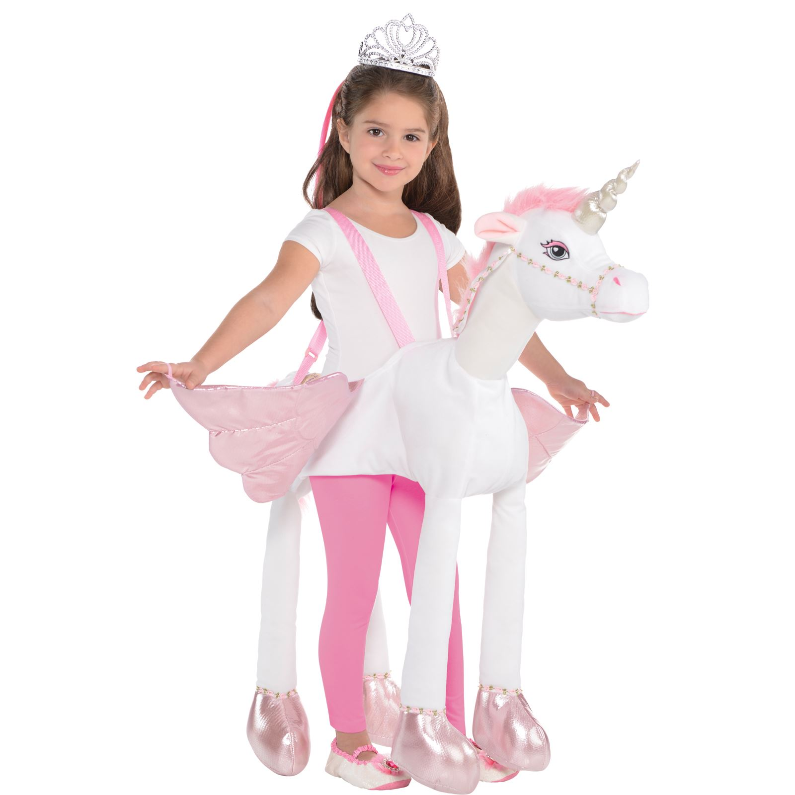 Unicorn Toys For Girls : Kids girls ride on unicorn costume plush toy pegasus pony