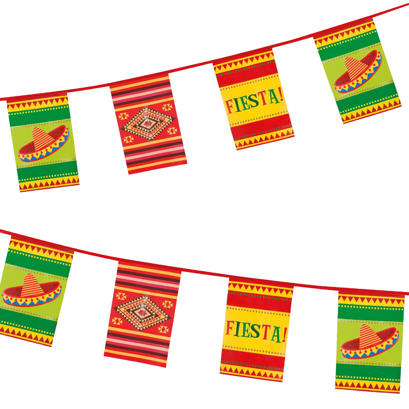wild west mexican fiesta party pennant flag hanging banner bunting