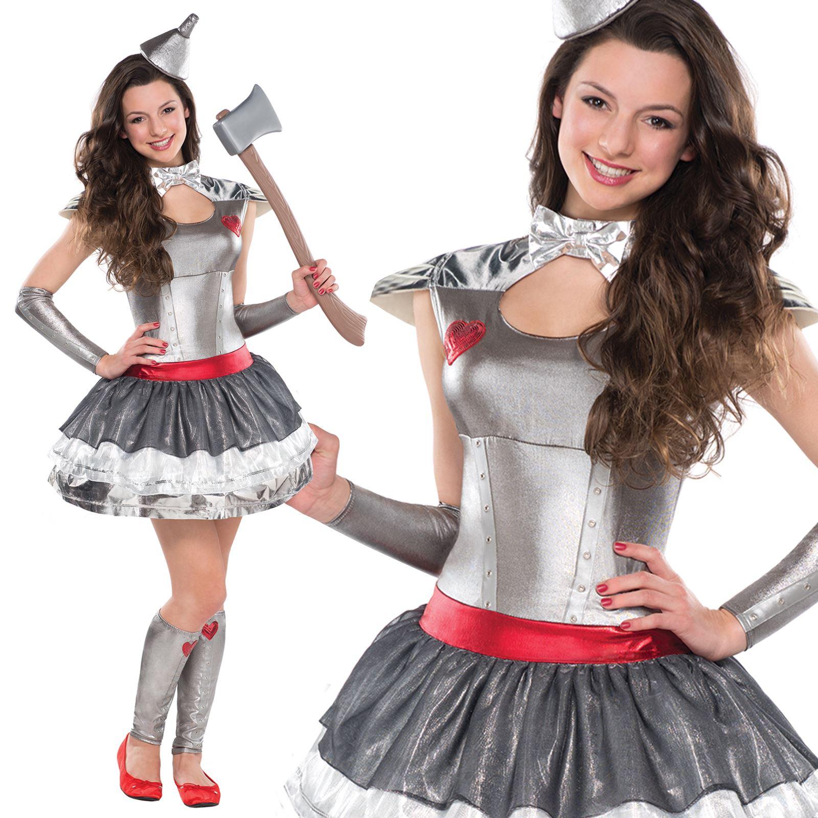 Teen Tin Heartthrob Lady Wizard Fancy Dress Of Oz Girl Party ...