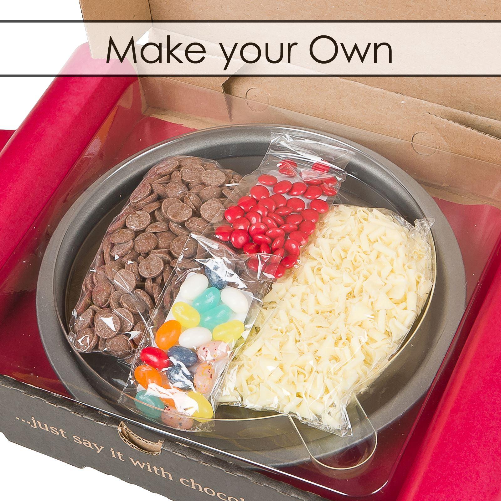 7 Inch Belgian Chocolate Pizza Party Celebration Birthday Gift ...