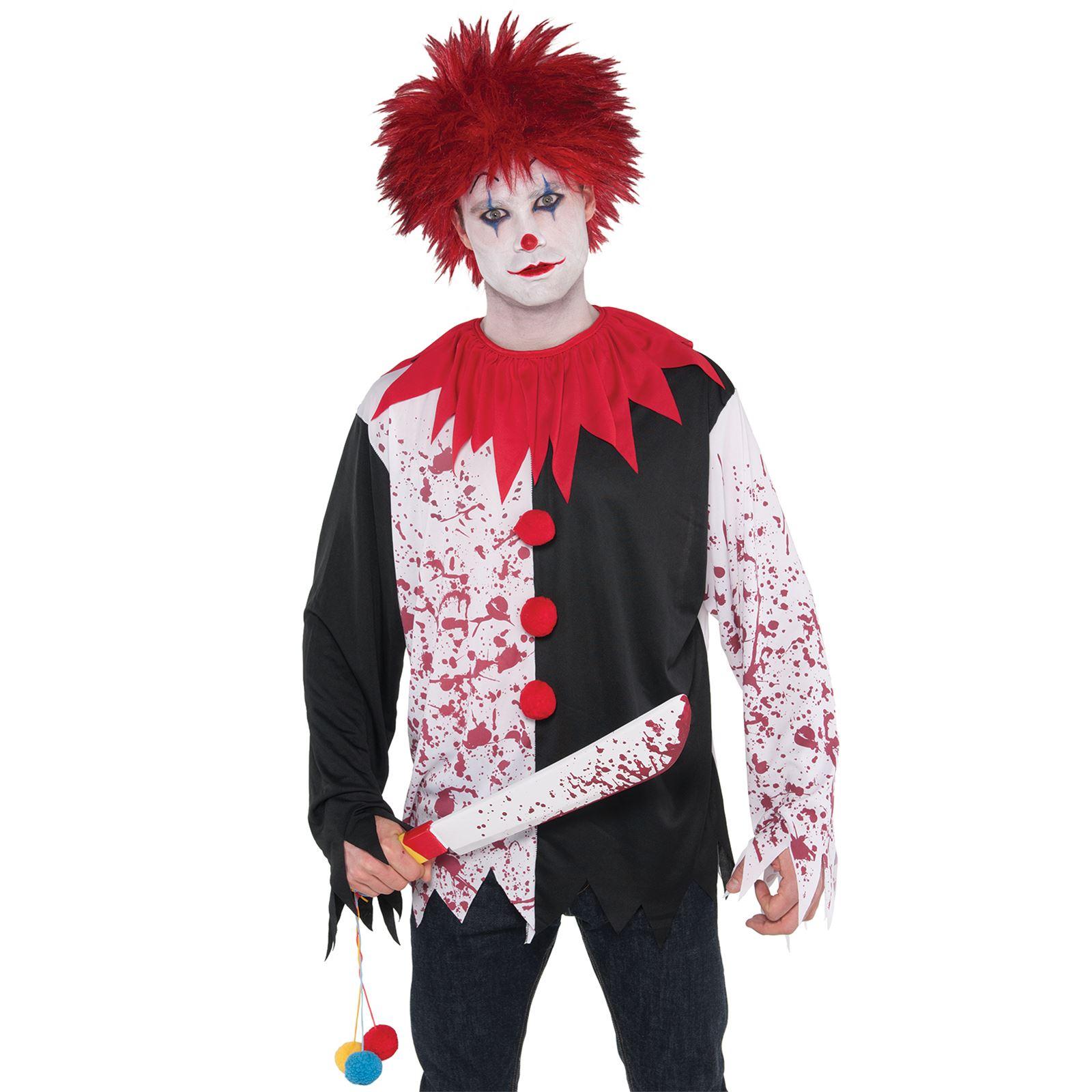 56cm Freak Show Clown Prop Machete Weapon Halloween Fancy Dress Accessory